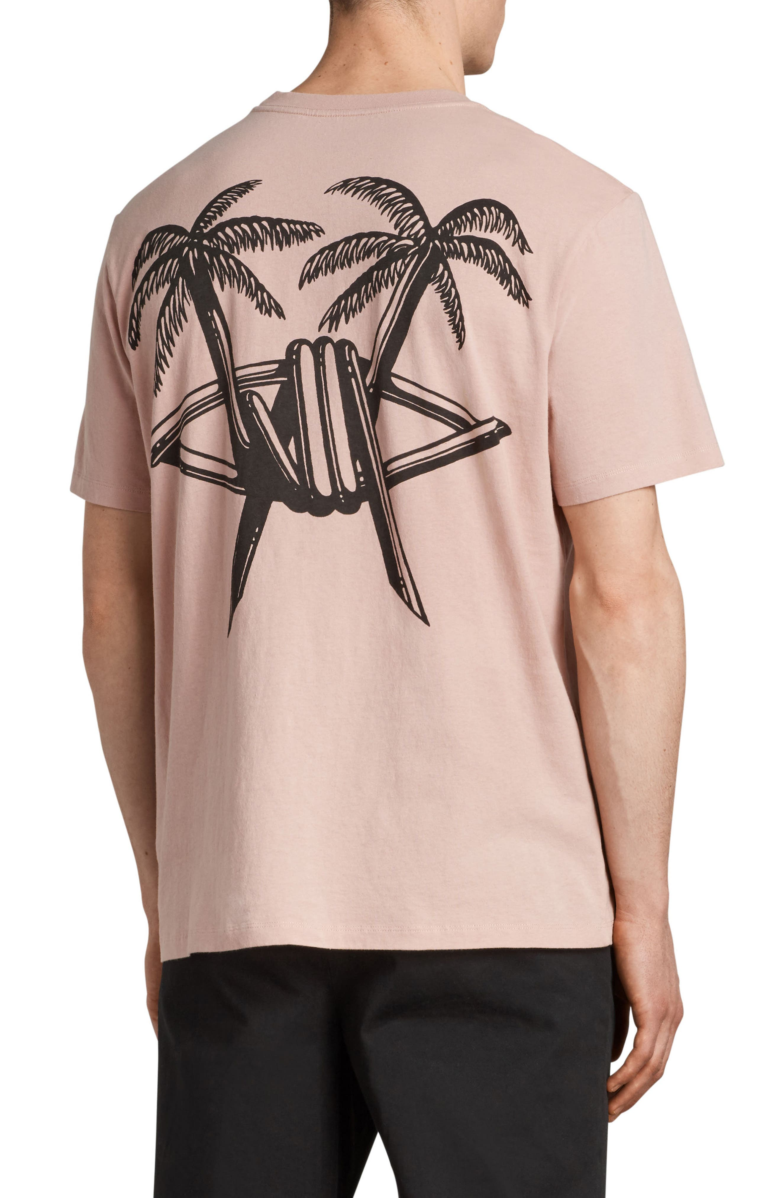 Barbed Palm Short Sleeve T-Shirt,                             Alternate thumbnail 2, color,                             Crepe Pink