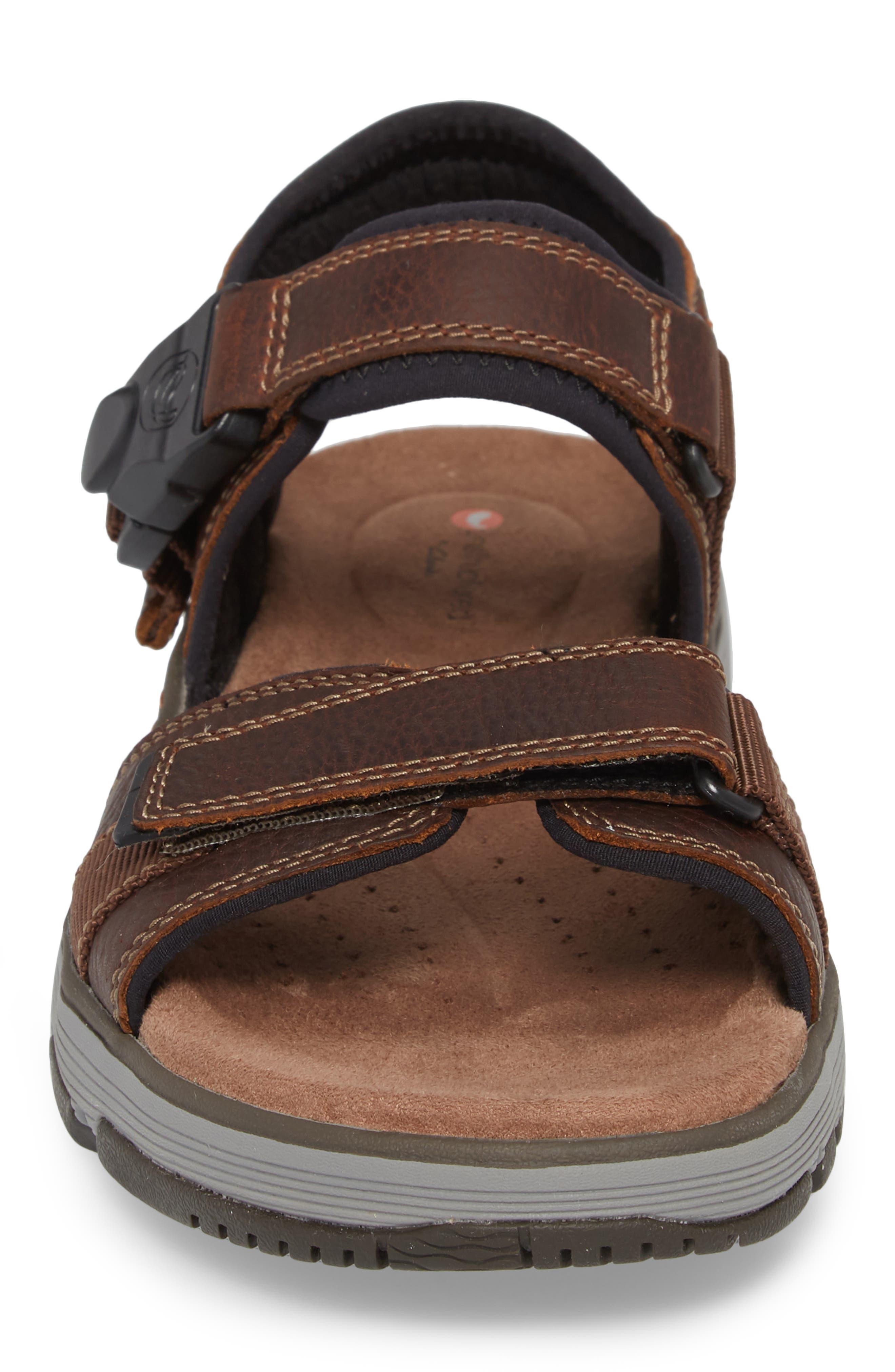 Un Trek Part Sport Sandal,                             Alternate thumbnail 4, color,                             Dark Tan Leather