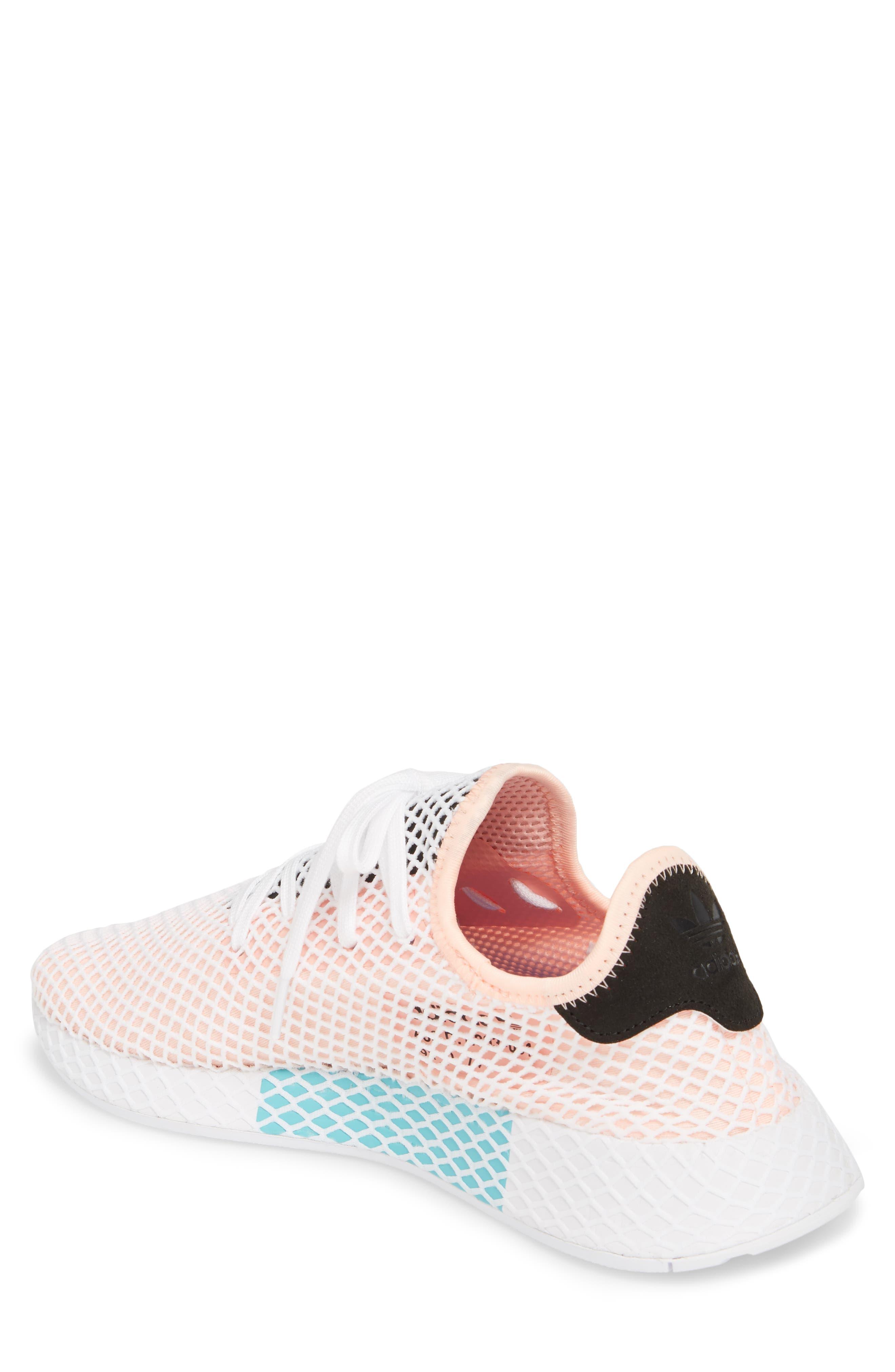 Deerupt Runner Sneaker,                             Alternate thumbnail 2, color,                             Black/ Black/ White