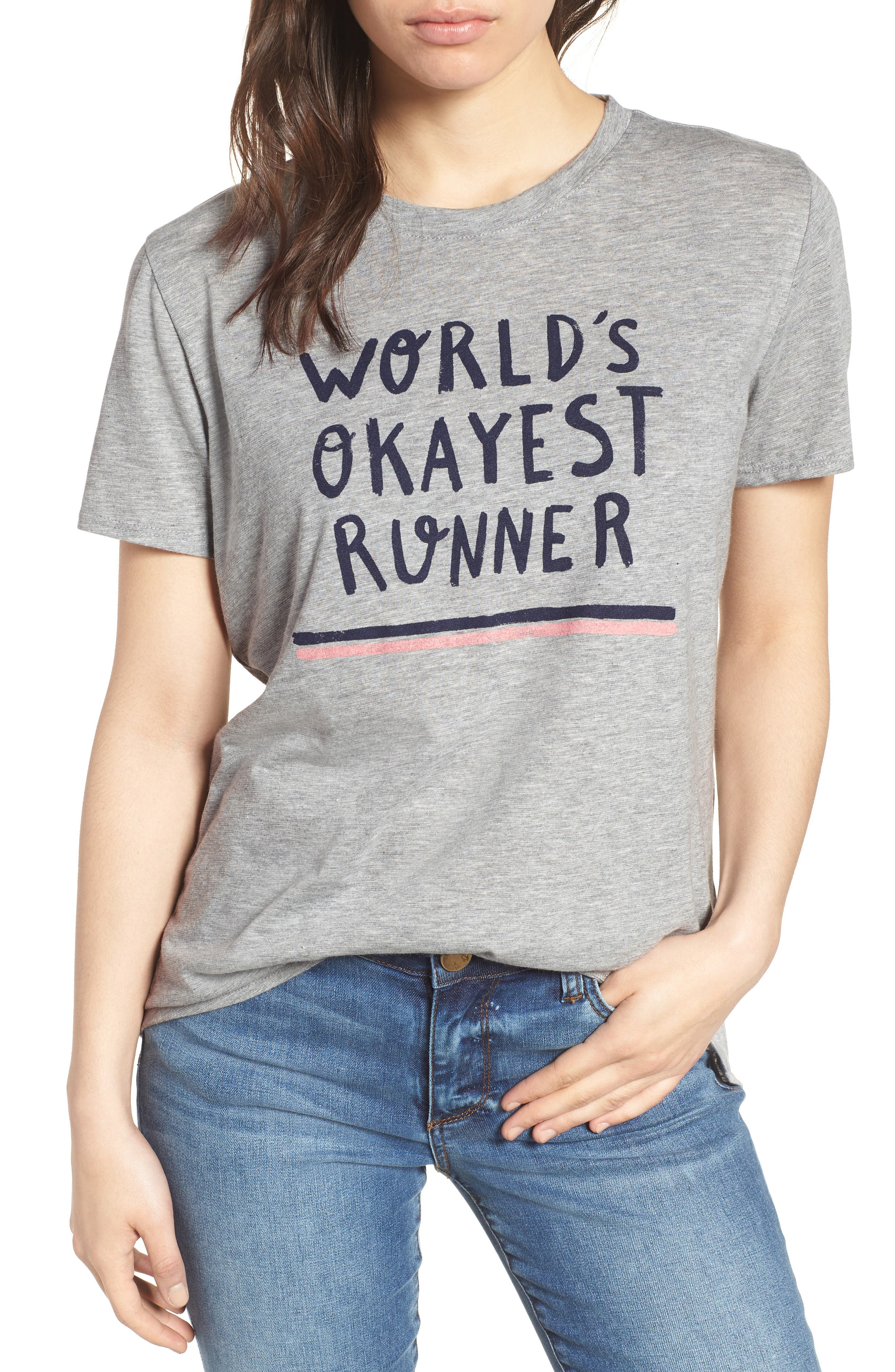 Off Duty Graphic Tee,                             Main thumbnail 1, color,                             Grey Heather