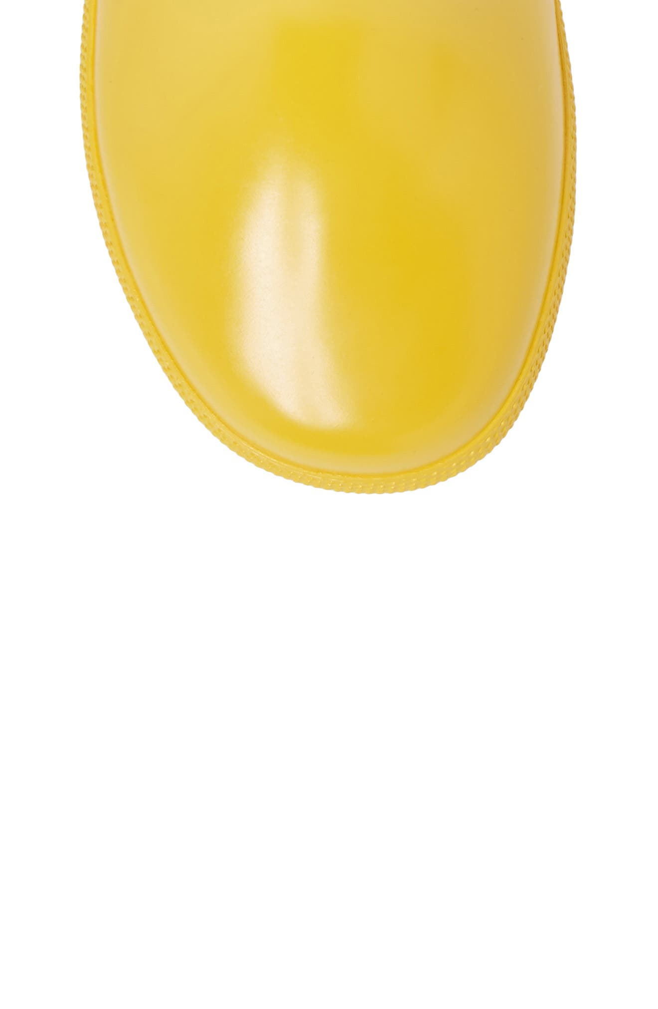 'First Gloss' Rain Boot,                             Alternate thumbnail 5, color,                             Yellow Gloss