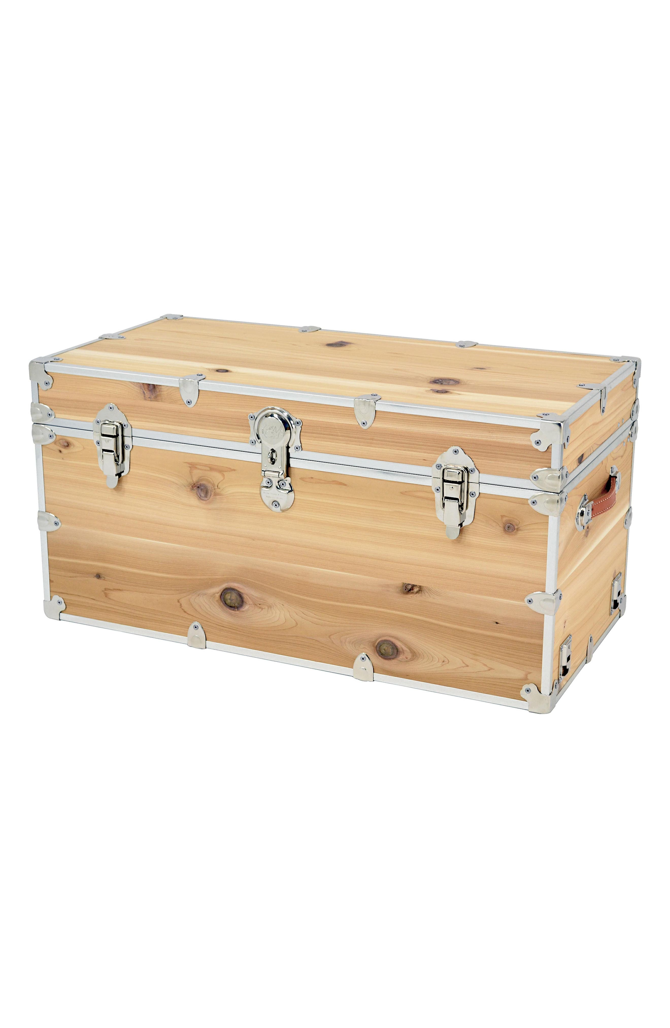 Rhino Trunk & Case XXL Knotty Cedar Cube Trunk,                             Main thumbnail 1, color,                             Wood