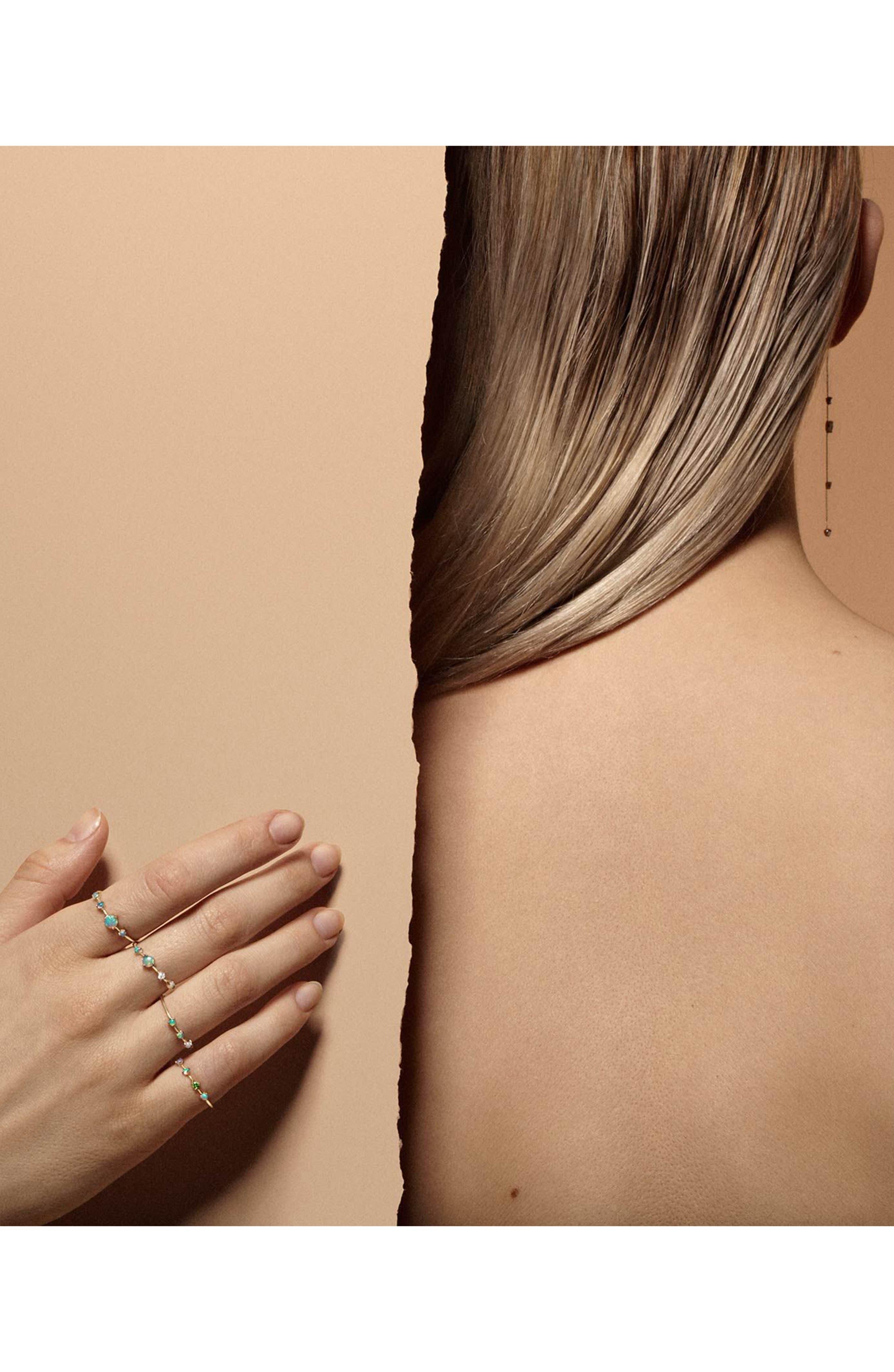Linear Chain Earrings,                             Alternate thumbnail 2, color,                             Opal/ White Diamond