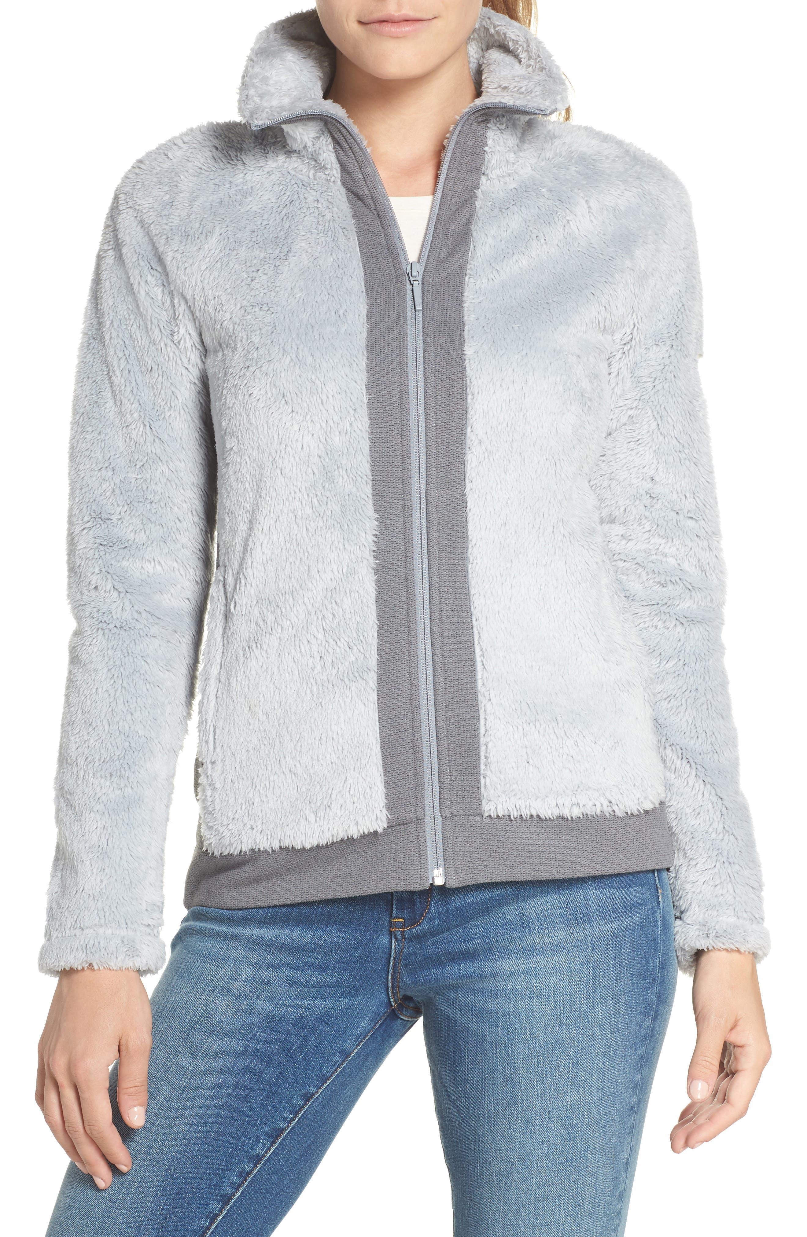 Furry Fleece Jacket,                         Main,                         color, High Rise Grey