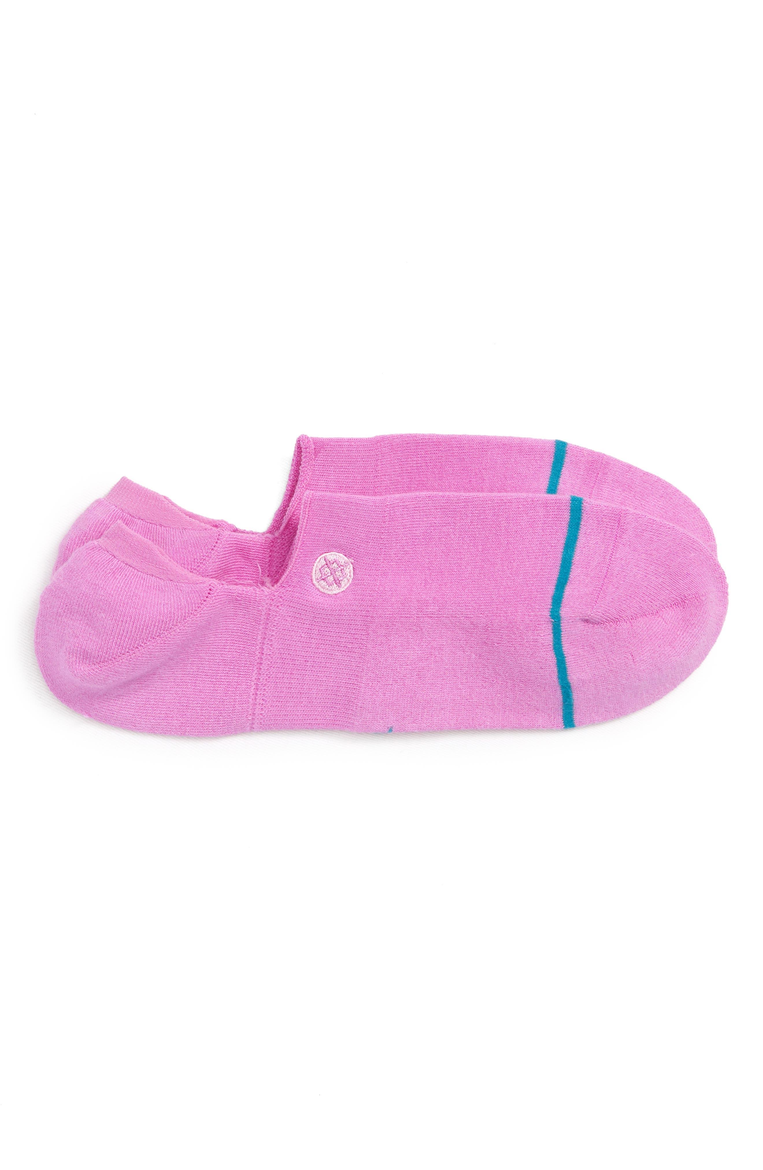 Gamut Liner Socks,                             Main thumbnail 1, color,                             Saturated Pink