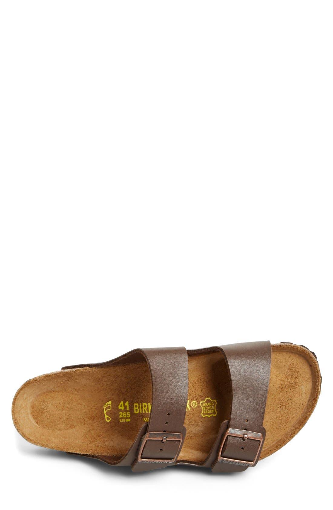 'Arizona' Slide Sandal,                             Alternate thumbnail 3, color,                             Dark Brown