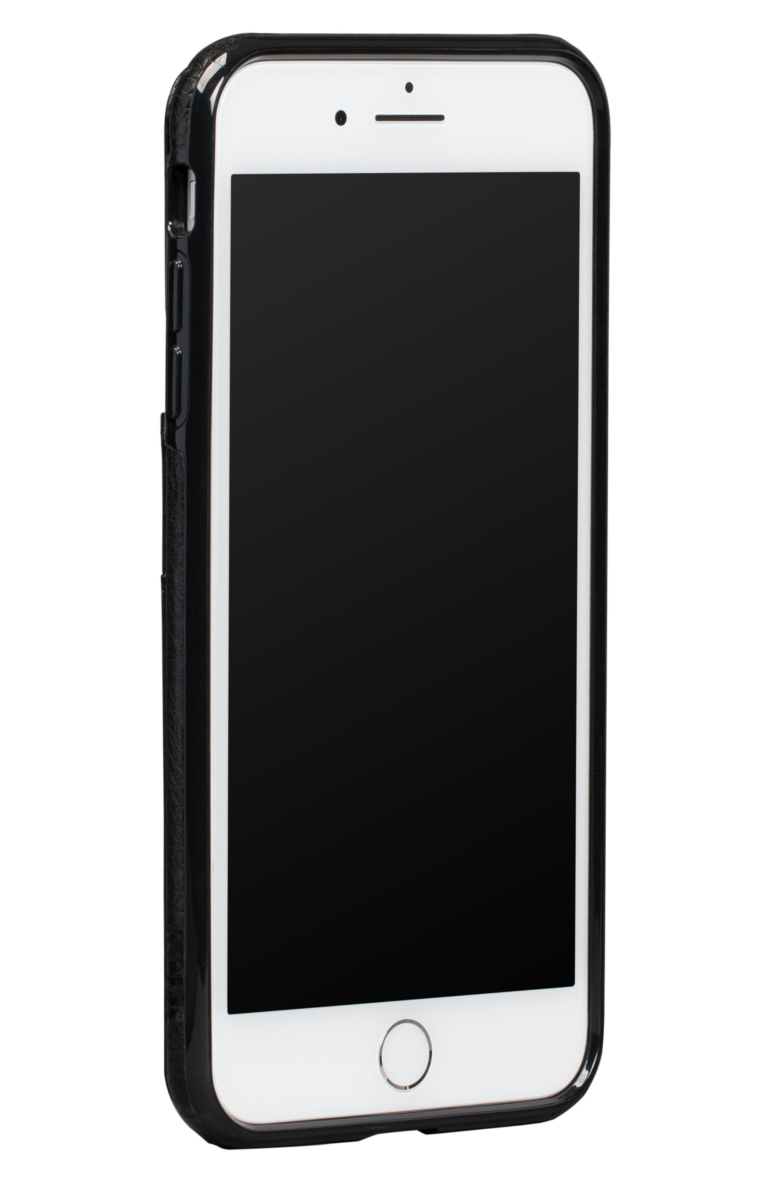 Bence Lugano iPhone 7/8 Plus Wallet Case,                             Alternate thumbnail 2, color,                             Black