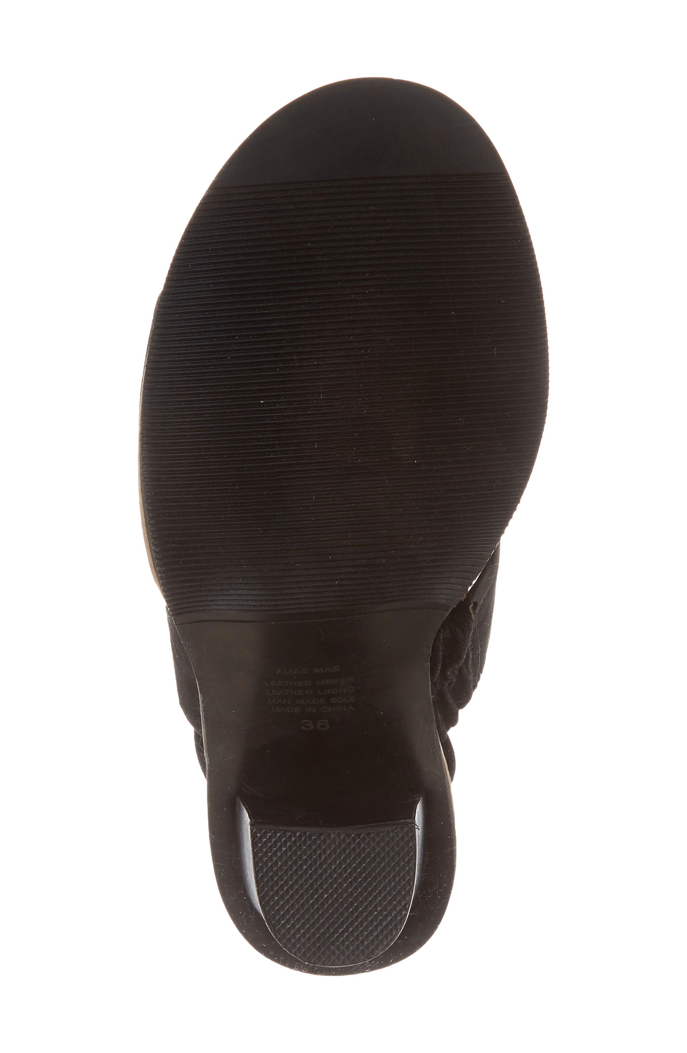 Cabrilla Sandal,                             Alternate thumbnail 6, color,                             Black Leather