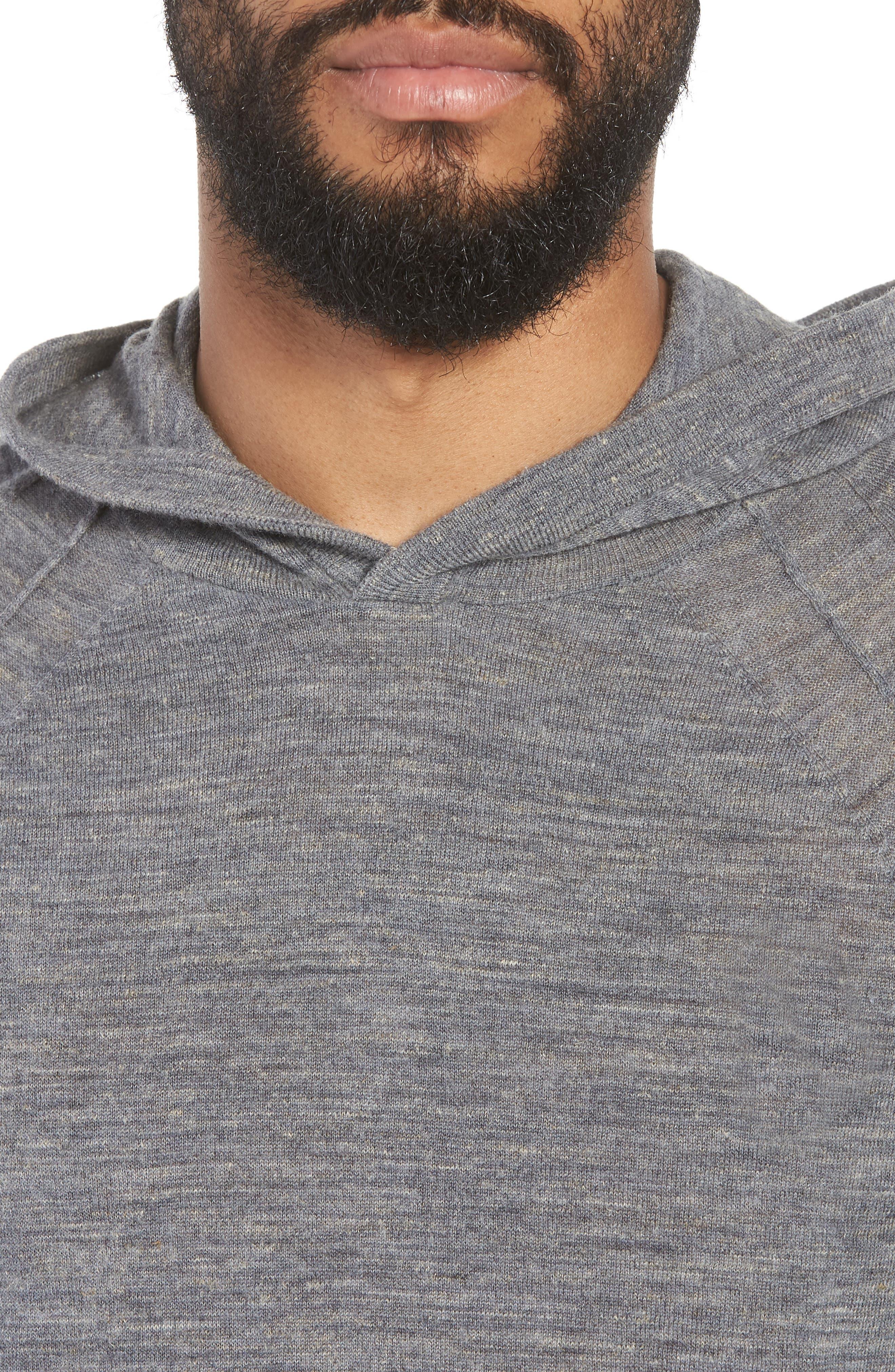 Long Sleeve Pullover Hoodie,                             Alternate thumbnail 4, color,                             Smoke