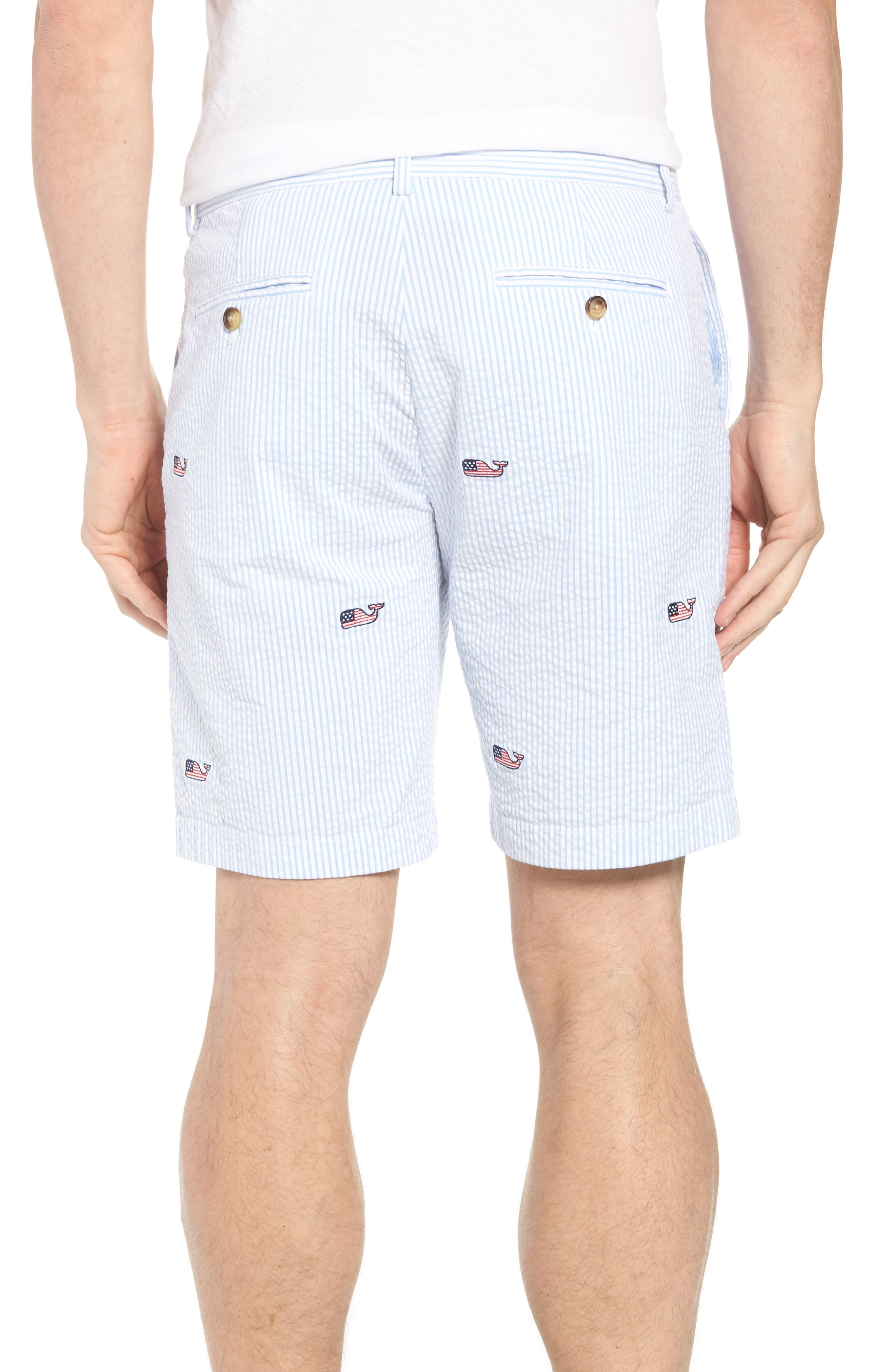 Seersucker Whale Shorts,                             Alternate thumbnail 2, color,                             Ocean Breeze