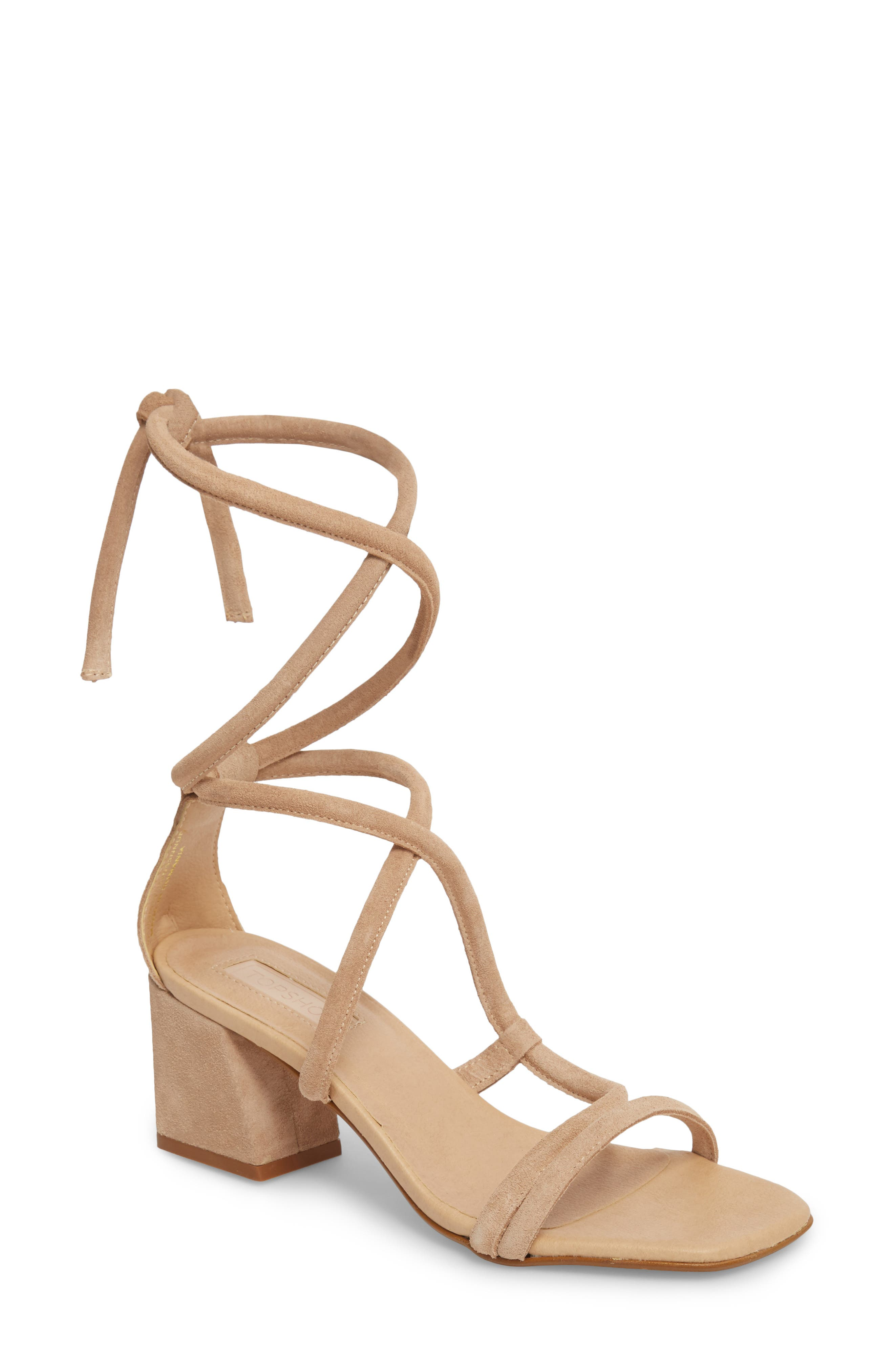 Topshop Nashville Tubular Wraparound Sandal (Women)