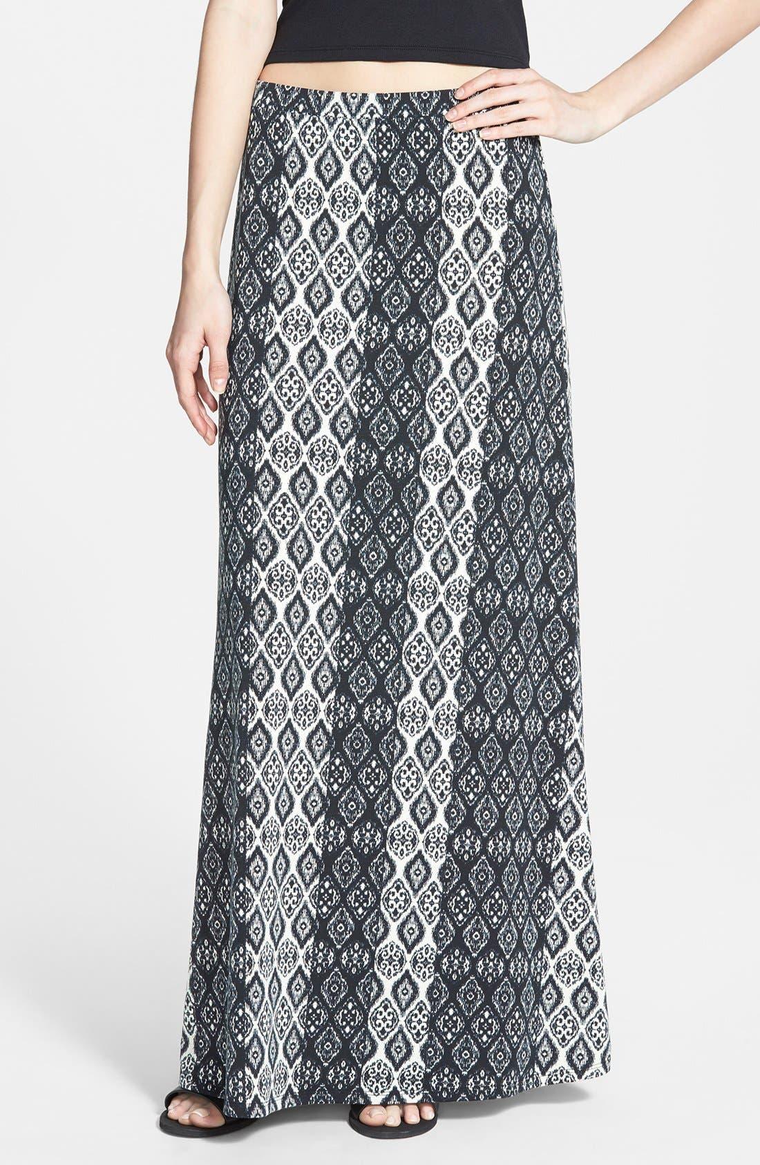 Alternate Image 1 Selected - Lily White Maxi Skirt (Juniors)