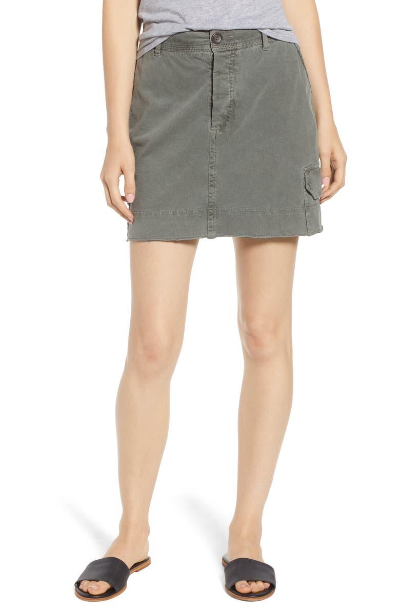 Cutoff Cargo Skirt