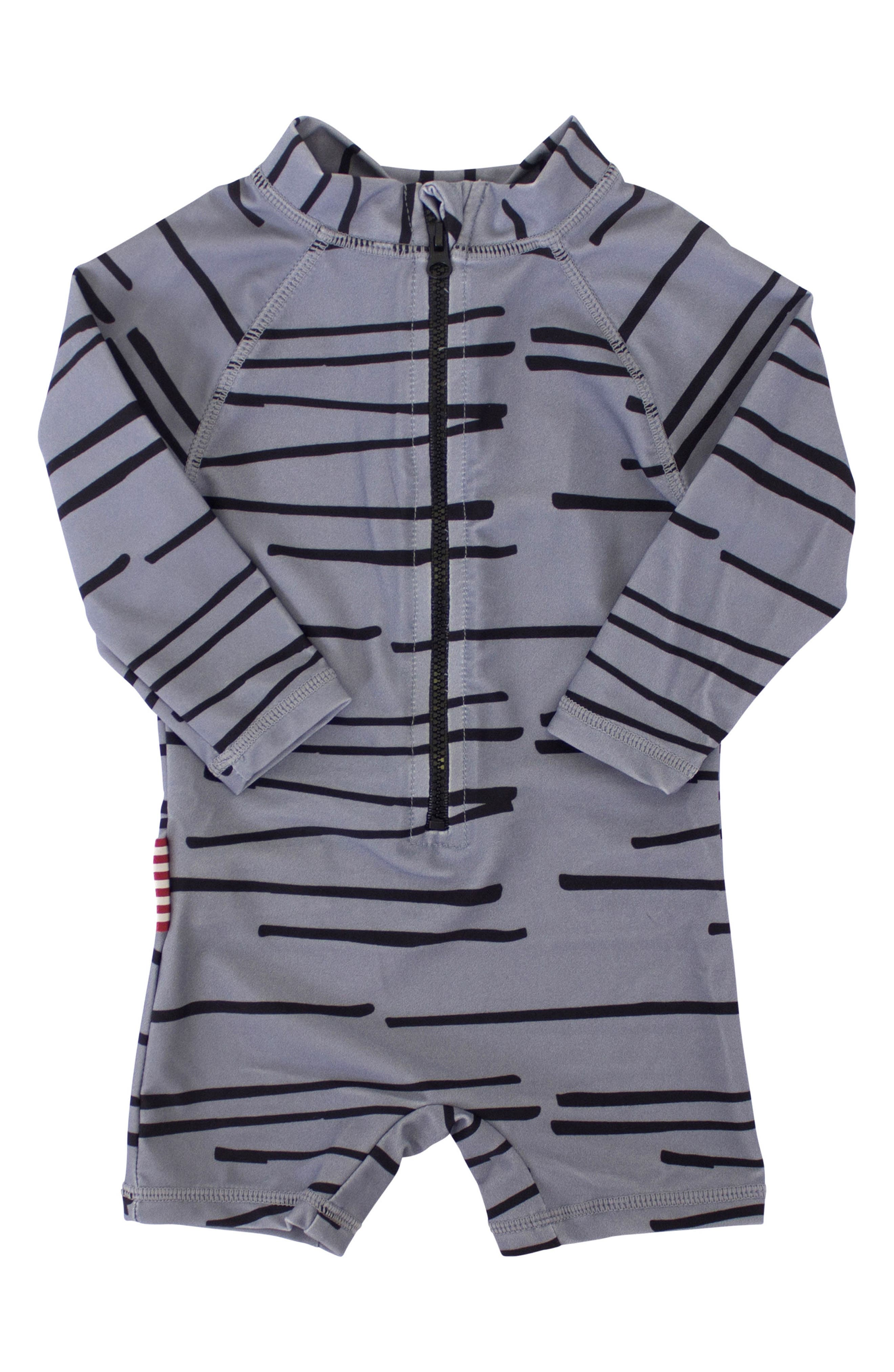 SOOKIbaby Tiger Stripe One-Piece Rashguard Swimsuit (Baby)