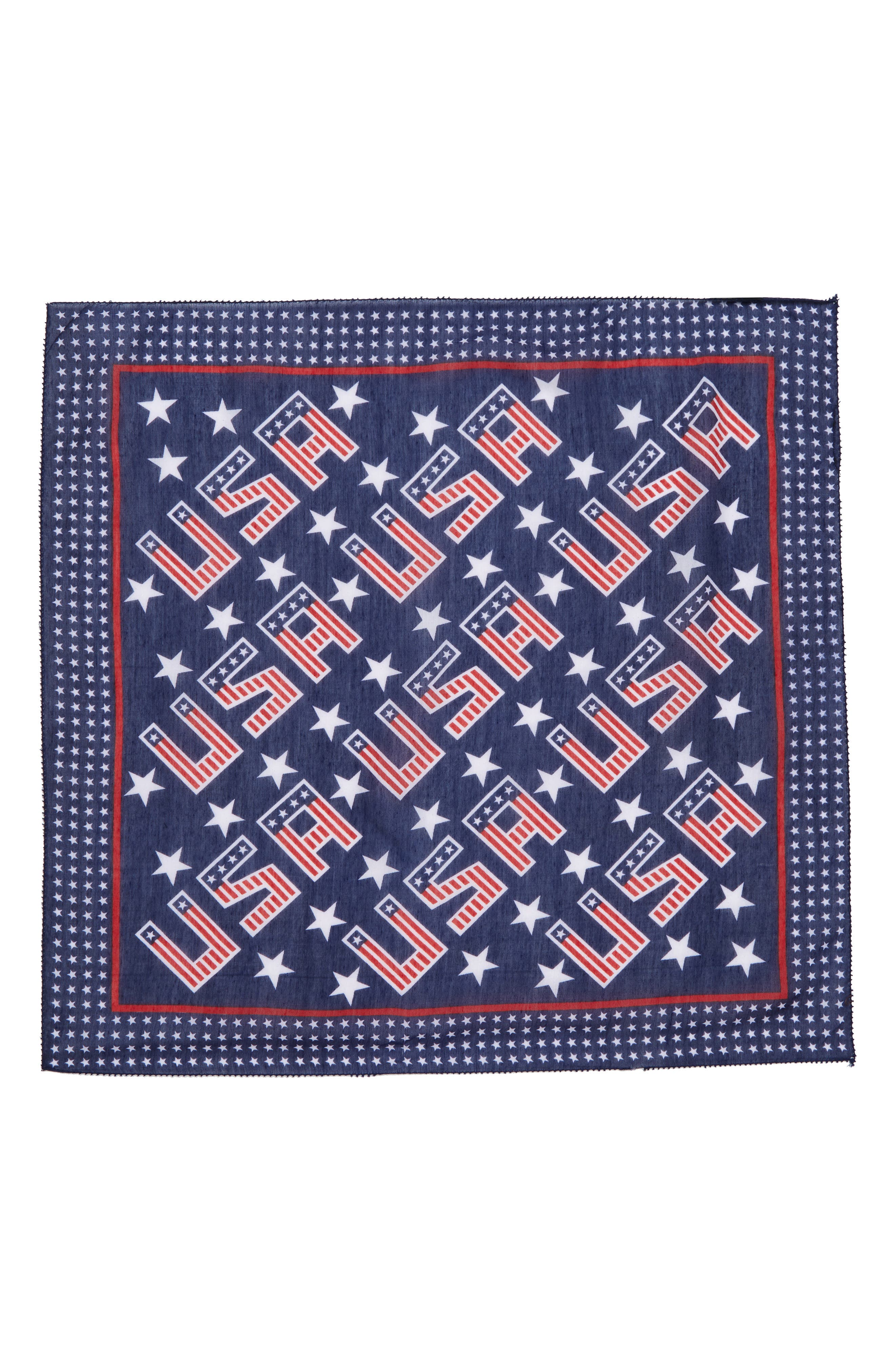 USA Neck Scarf,                             Alternate thumbnail 2, color,                             Red/ Navy
