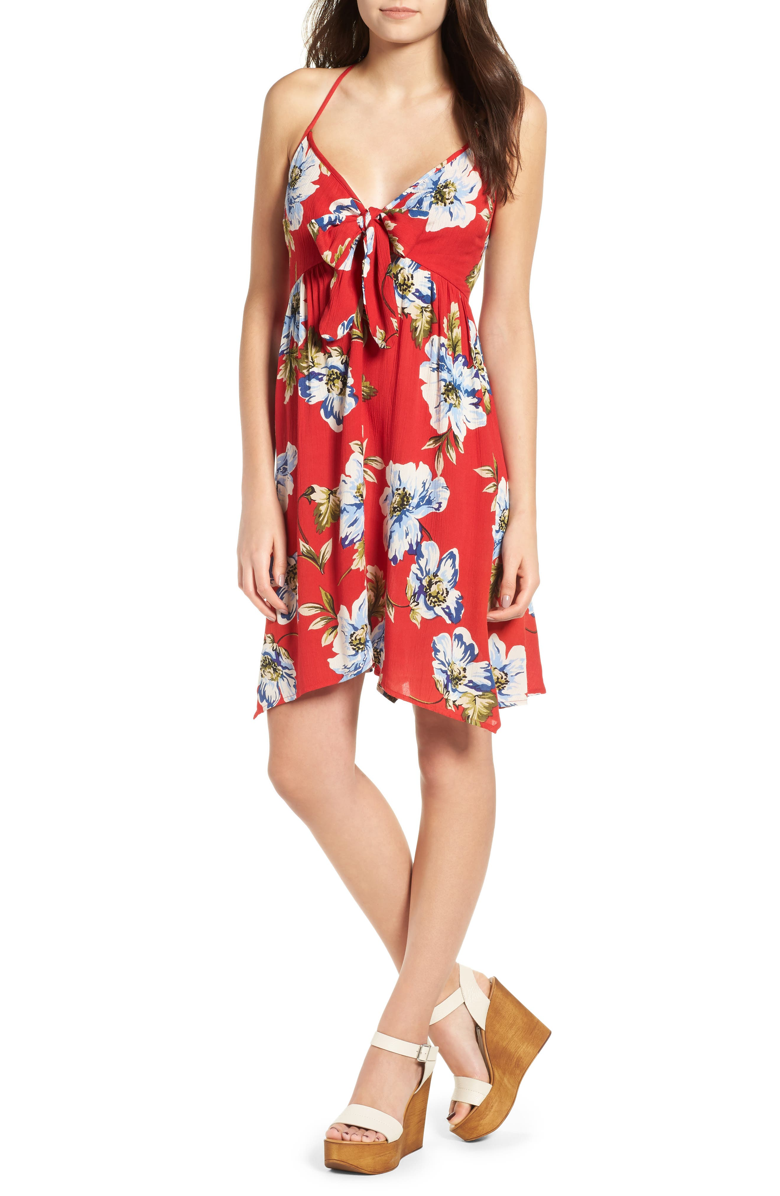 Band of Gypsies Blue Moon Floral Print Dress