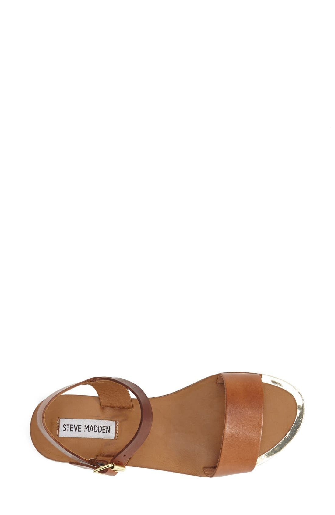 'Rillie' Two Strap Sandal,                             Alternate thumbnail 3, color,                             Tan Leather