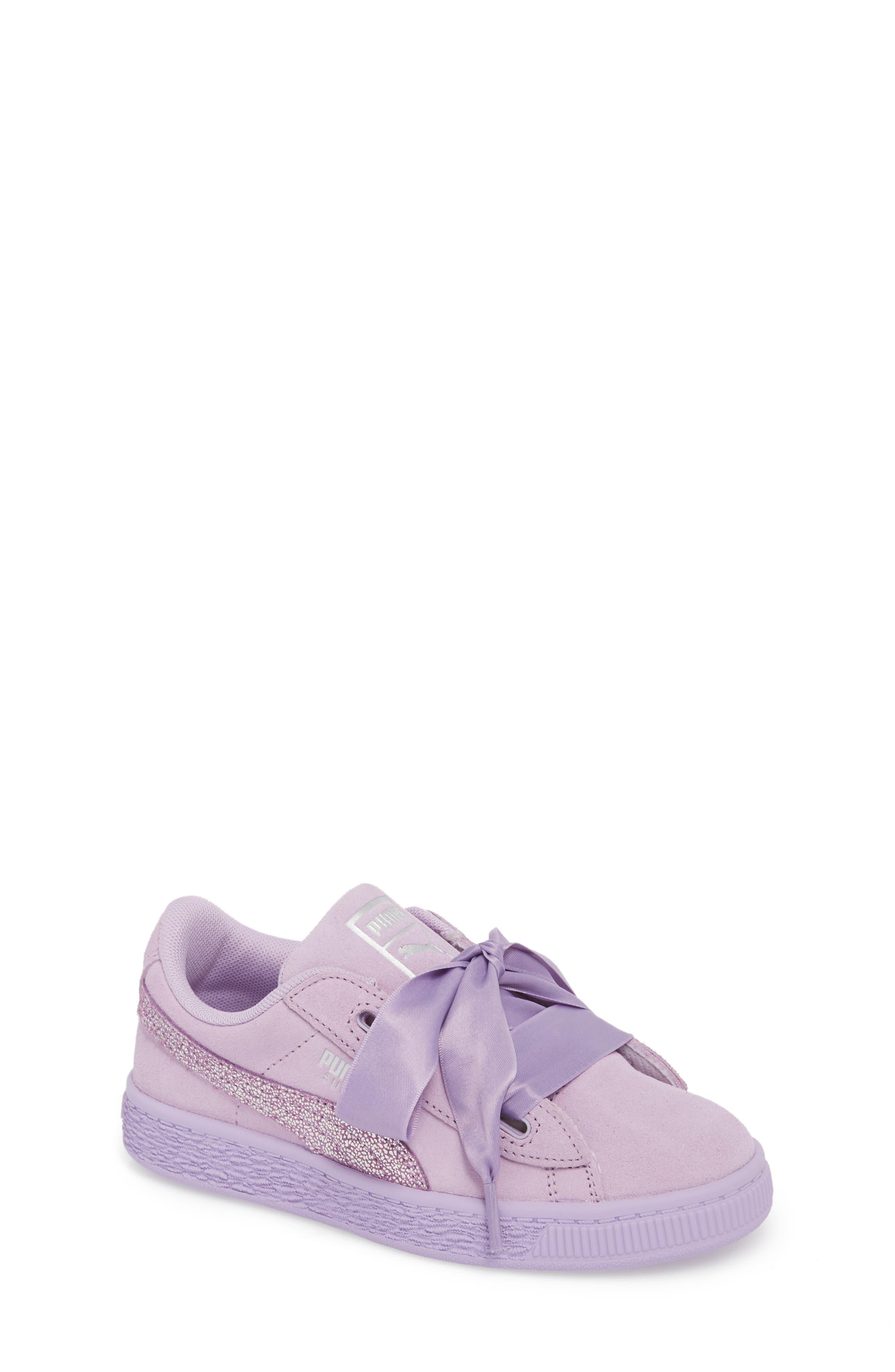 Basket Heart Glitz Sneaker,                             Main thumbnail 1, color,                             Purple Haze/ Silver