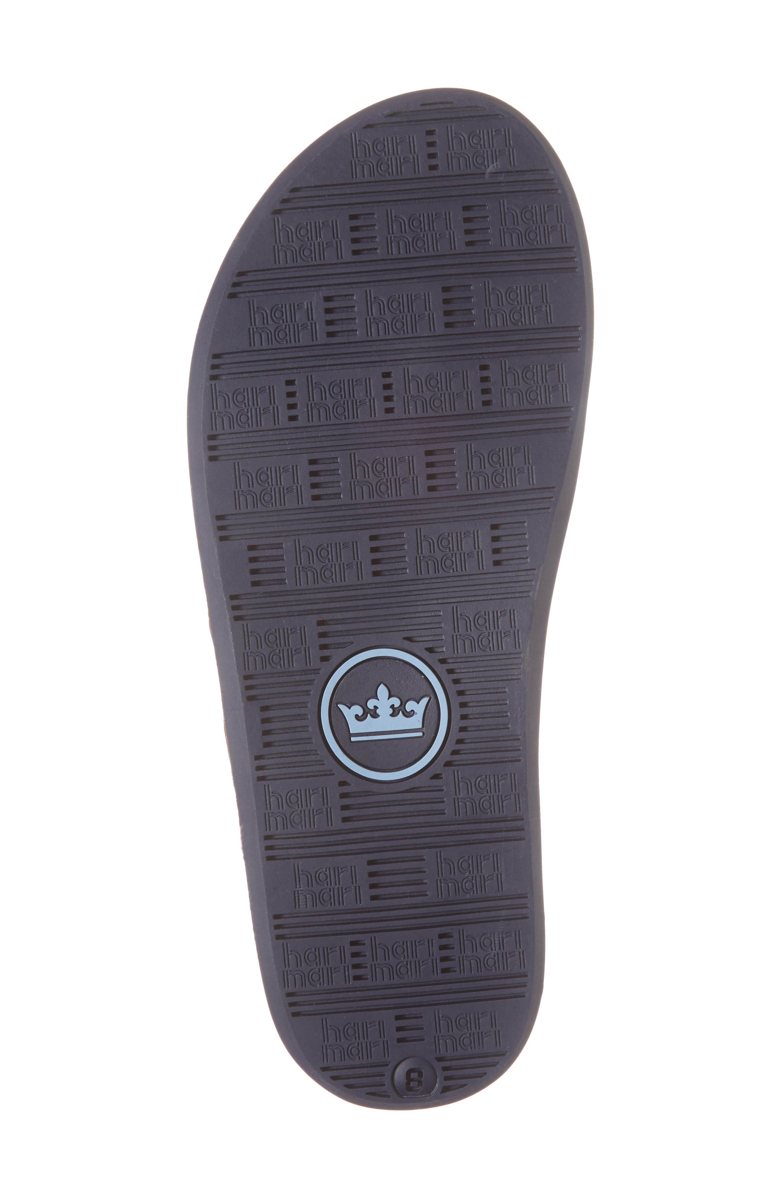 x Peter Millar Leather Flip Flop,                             Alternate thumbnail 6, color,                             Dark Chocolate Leather