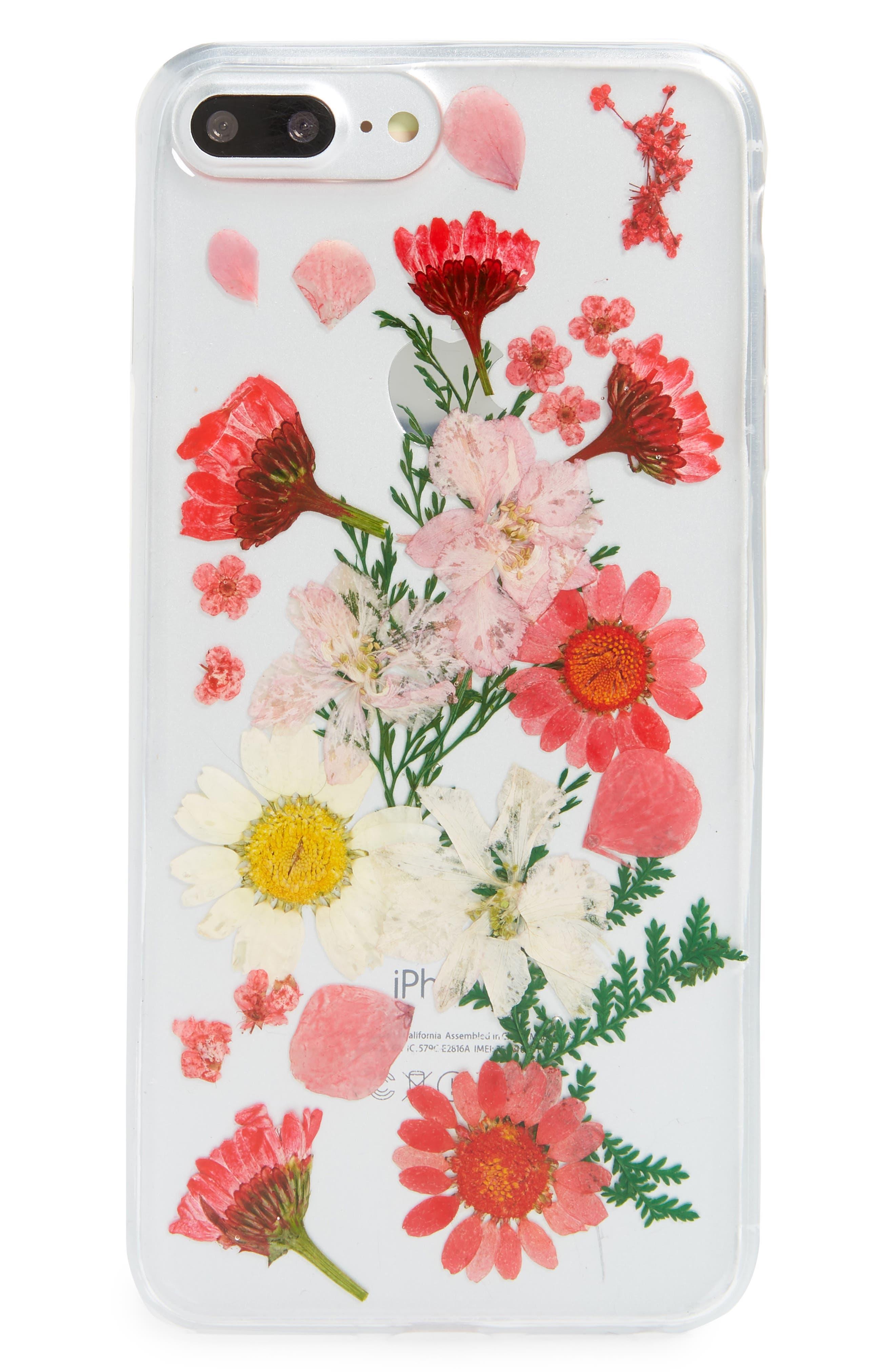 Floral iPhone  6/6s/7/8 Plus Case,                             Main thumbnail 1, color,                             Clear Multi