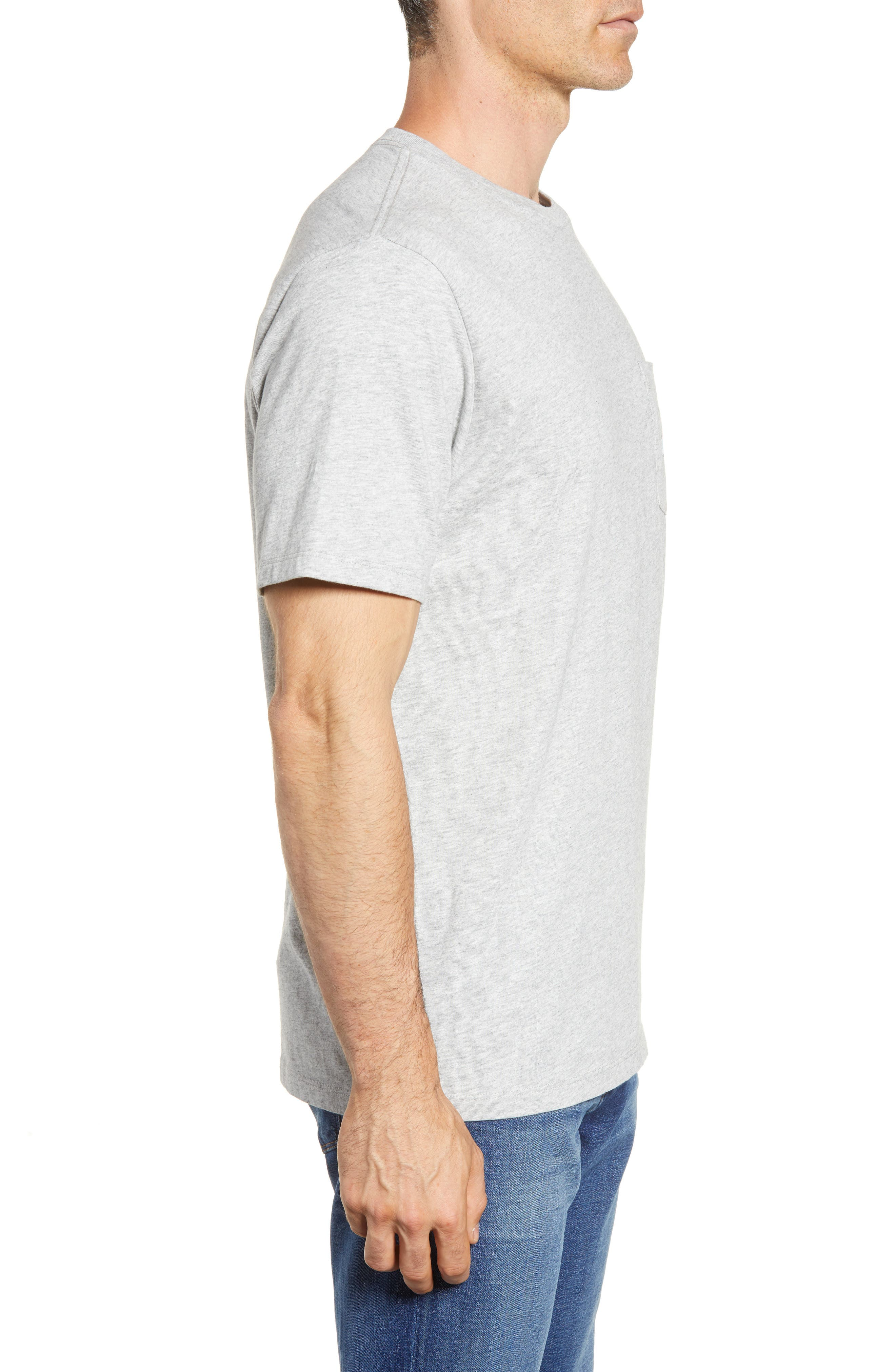 Everyday Pocket T-Shirt,                             Alternate thumbnail 3, color,                             Grey Heather
