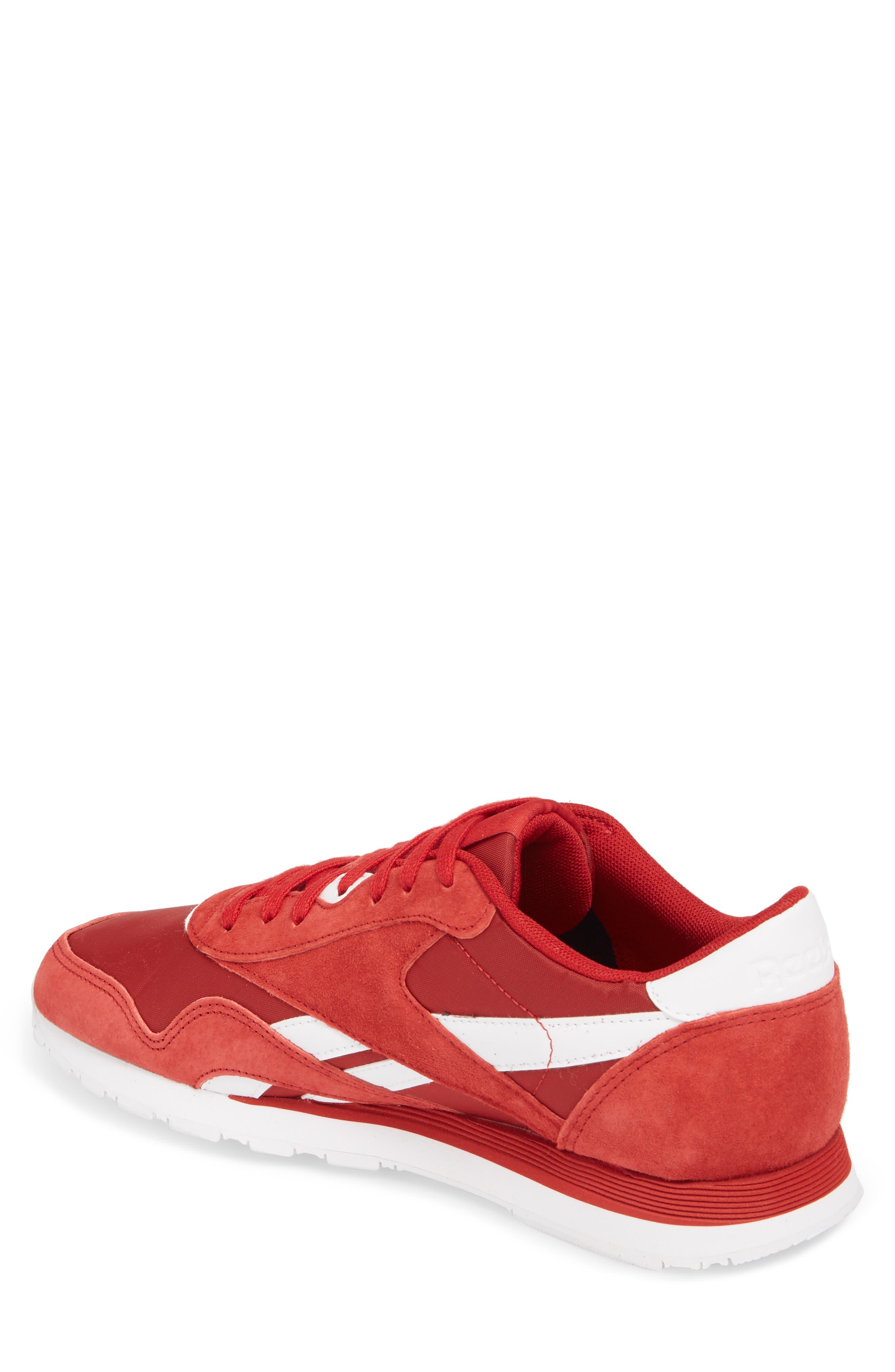 Classic Nylon PN Sneaker,                             Alternate thumbnail 2, color,                             Power Red/ White