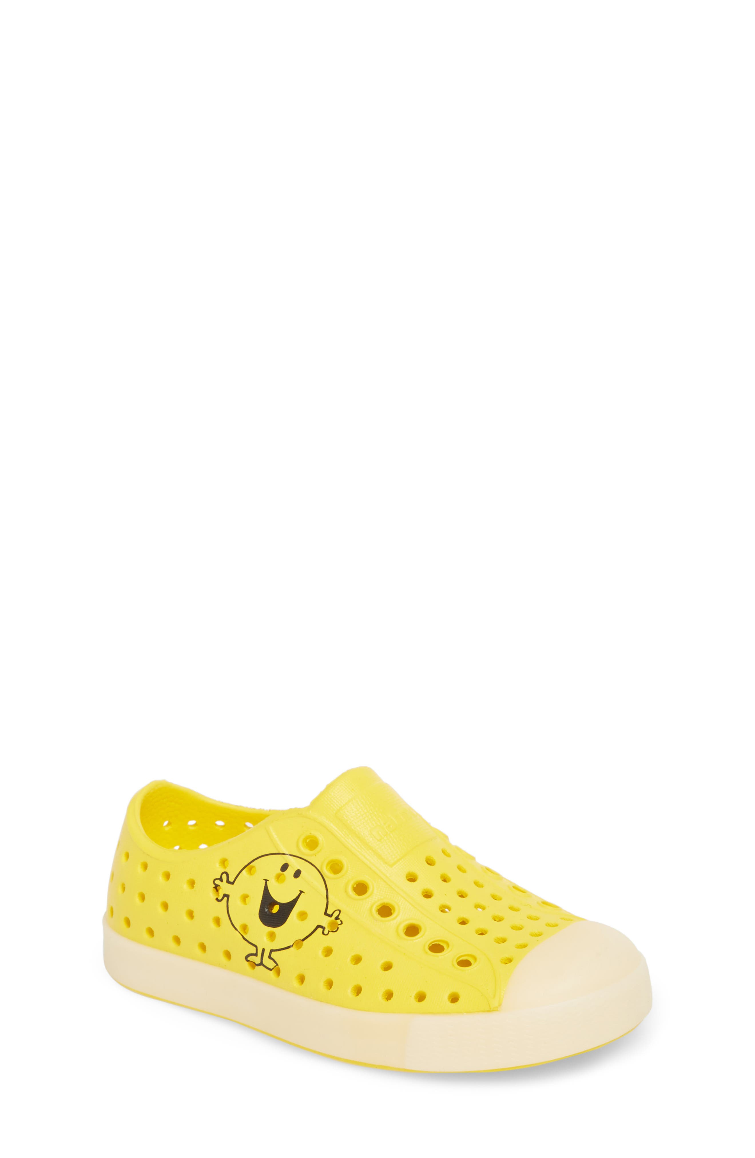 Jefferson - Glow in the Dark Sneaker,                         Main,                         color, Mr. Happy Yellow/ Glow