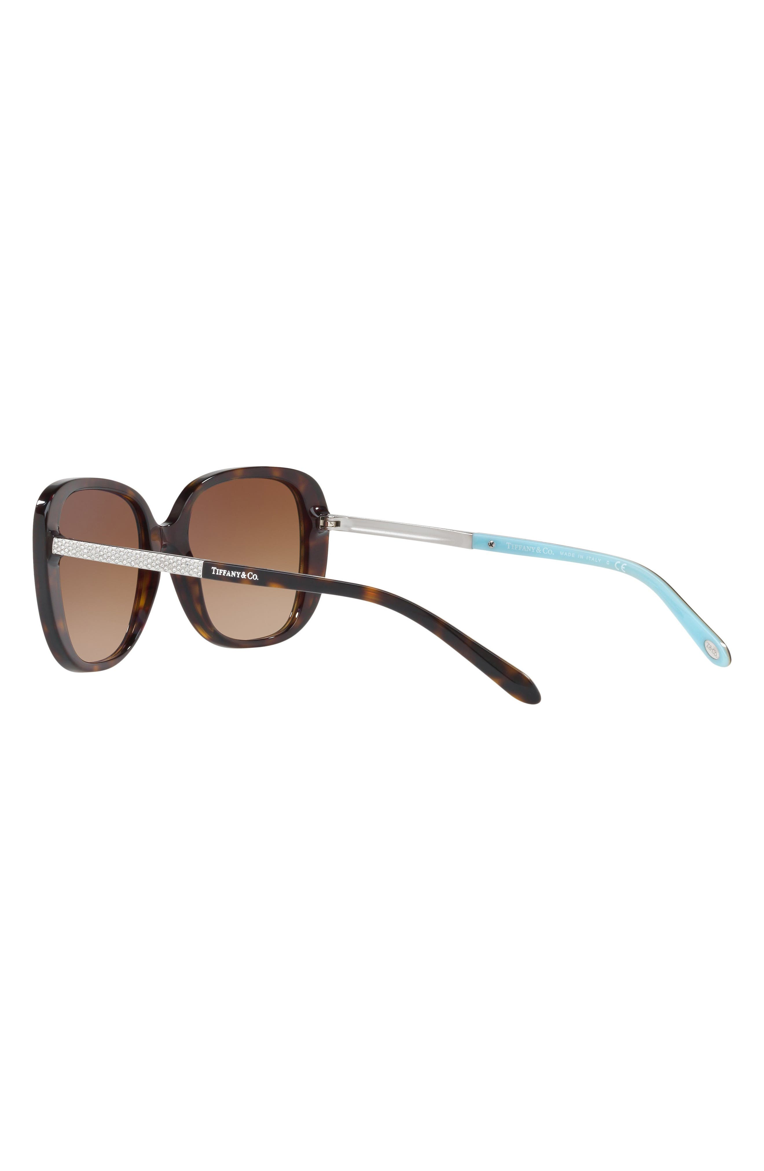 54mm Gradient Sunglasses,                             Alternate thumbnail 3, color,                             Dark Havana