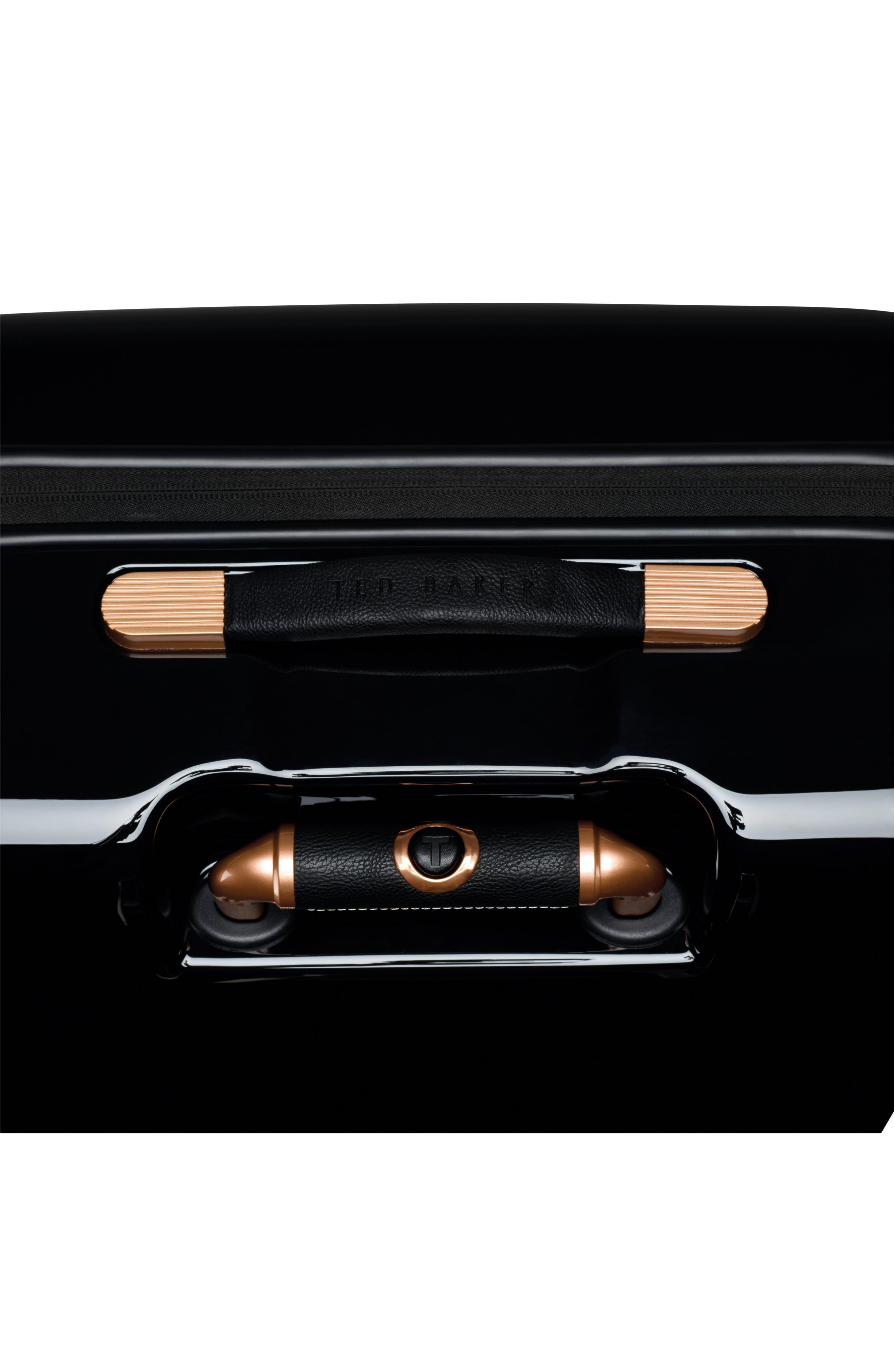 Medium Versailles 27-Inch Hard Shell Spinner Suitcase,                             Alternate thumbnail 8, color,                             Black