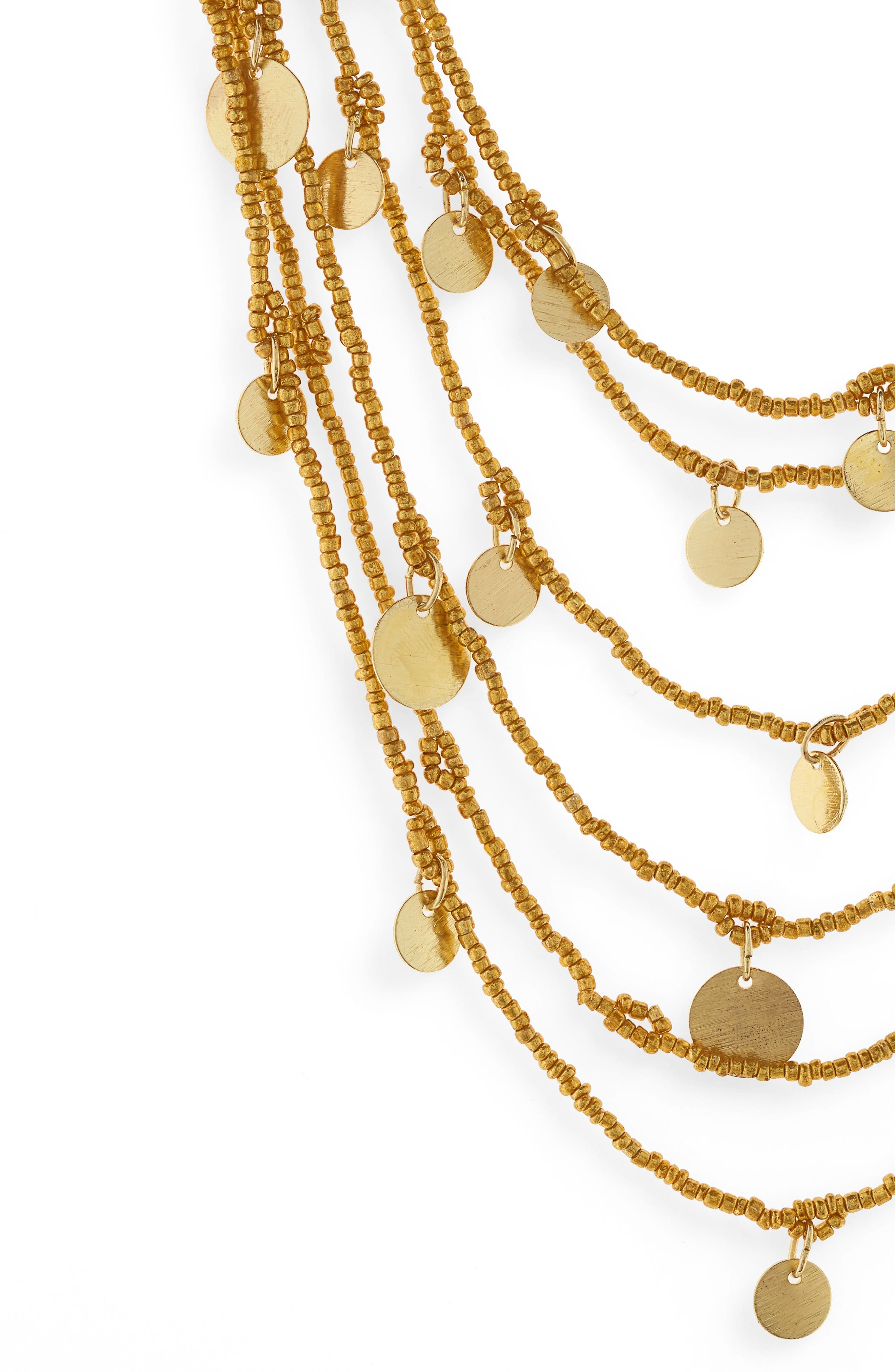 Caryn Multistrand Necklace,                             Alternate thumbnail 2, color,                             Gold