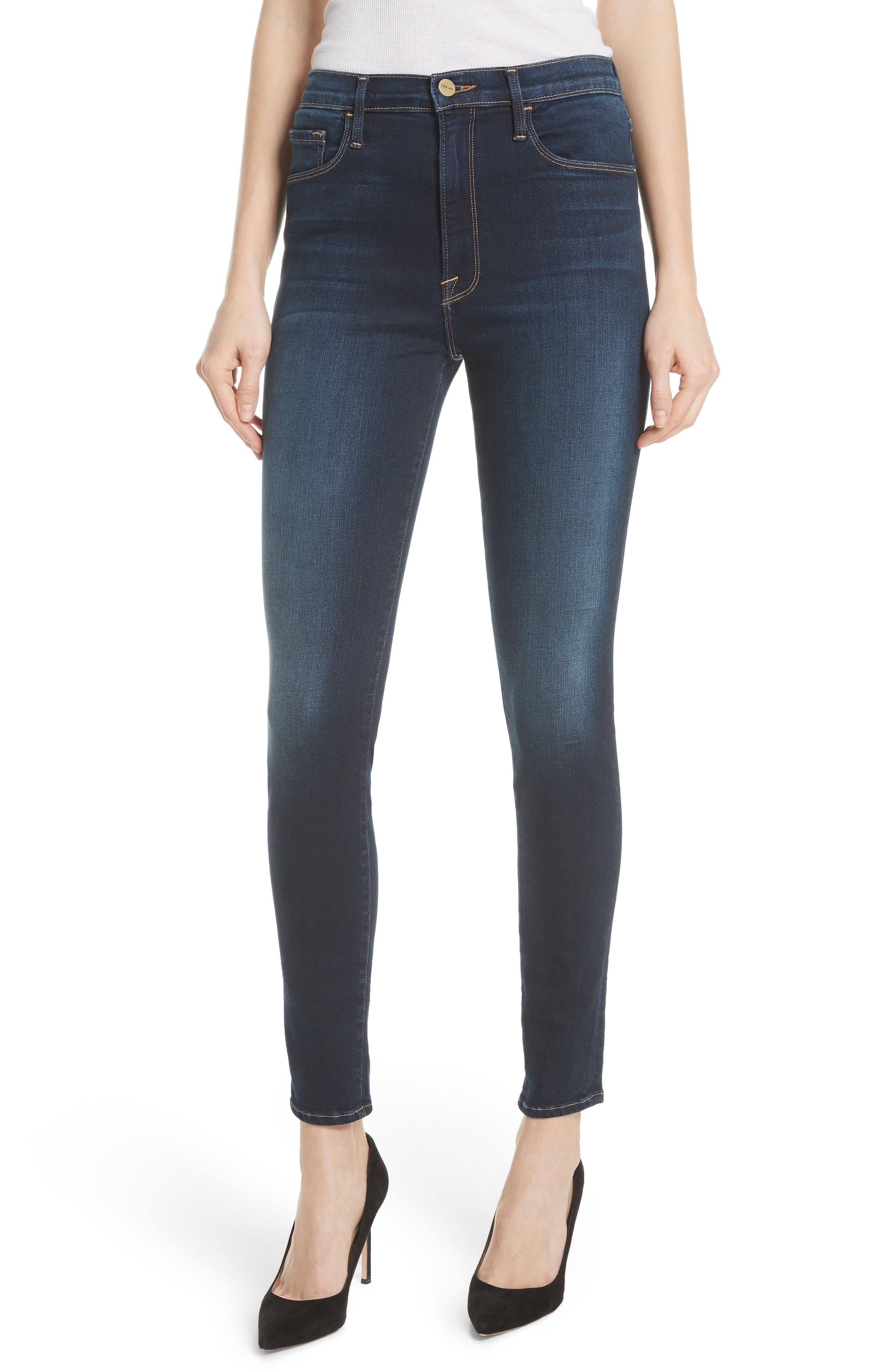 Alternate Image 1 Selected - FRAME Ali High Waist Skinny Jeans (Wayside)