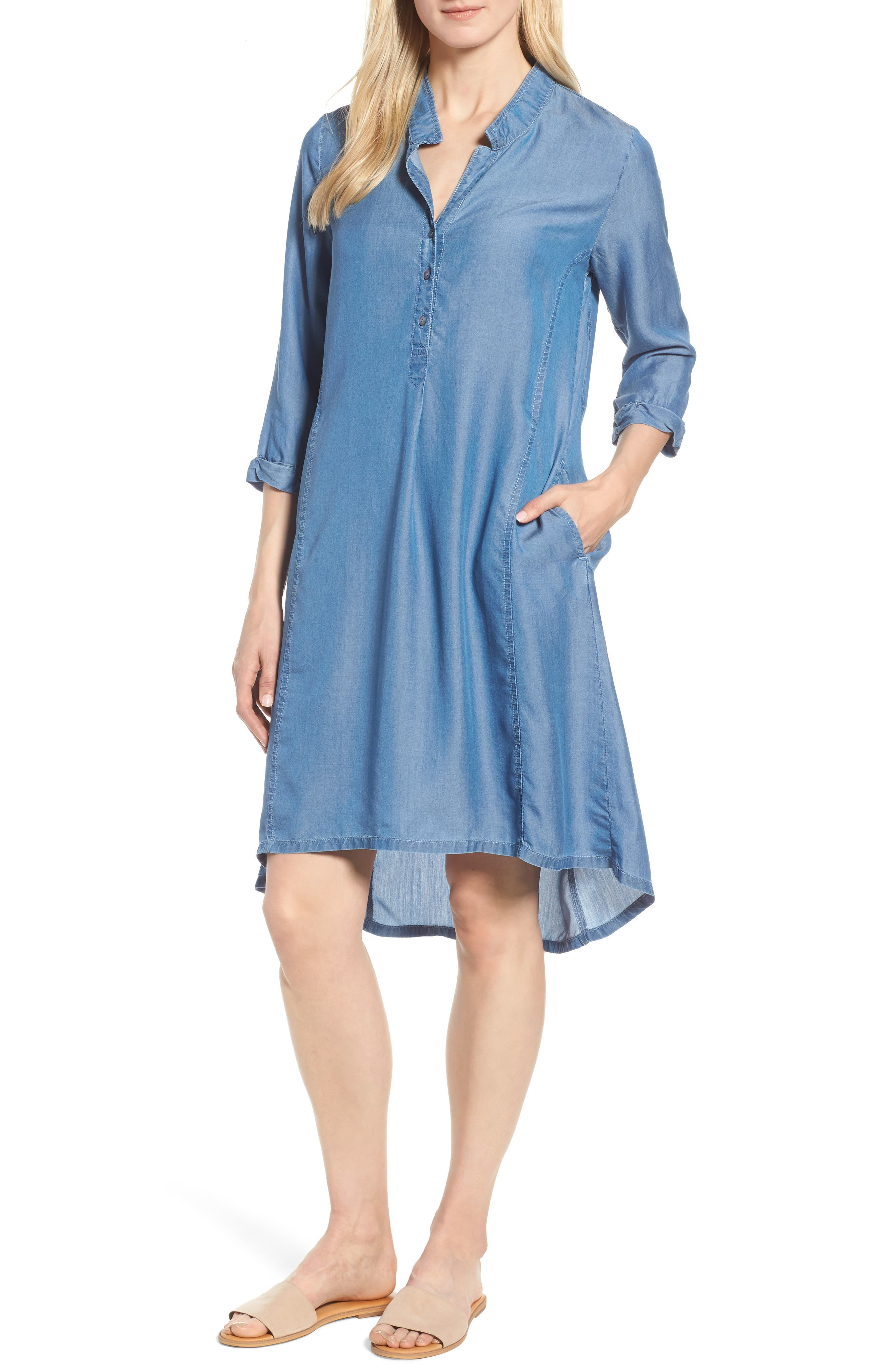 Festival Moonlit Tunic Dress,                         Main,                         color, Blue Haze