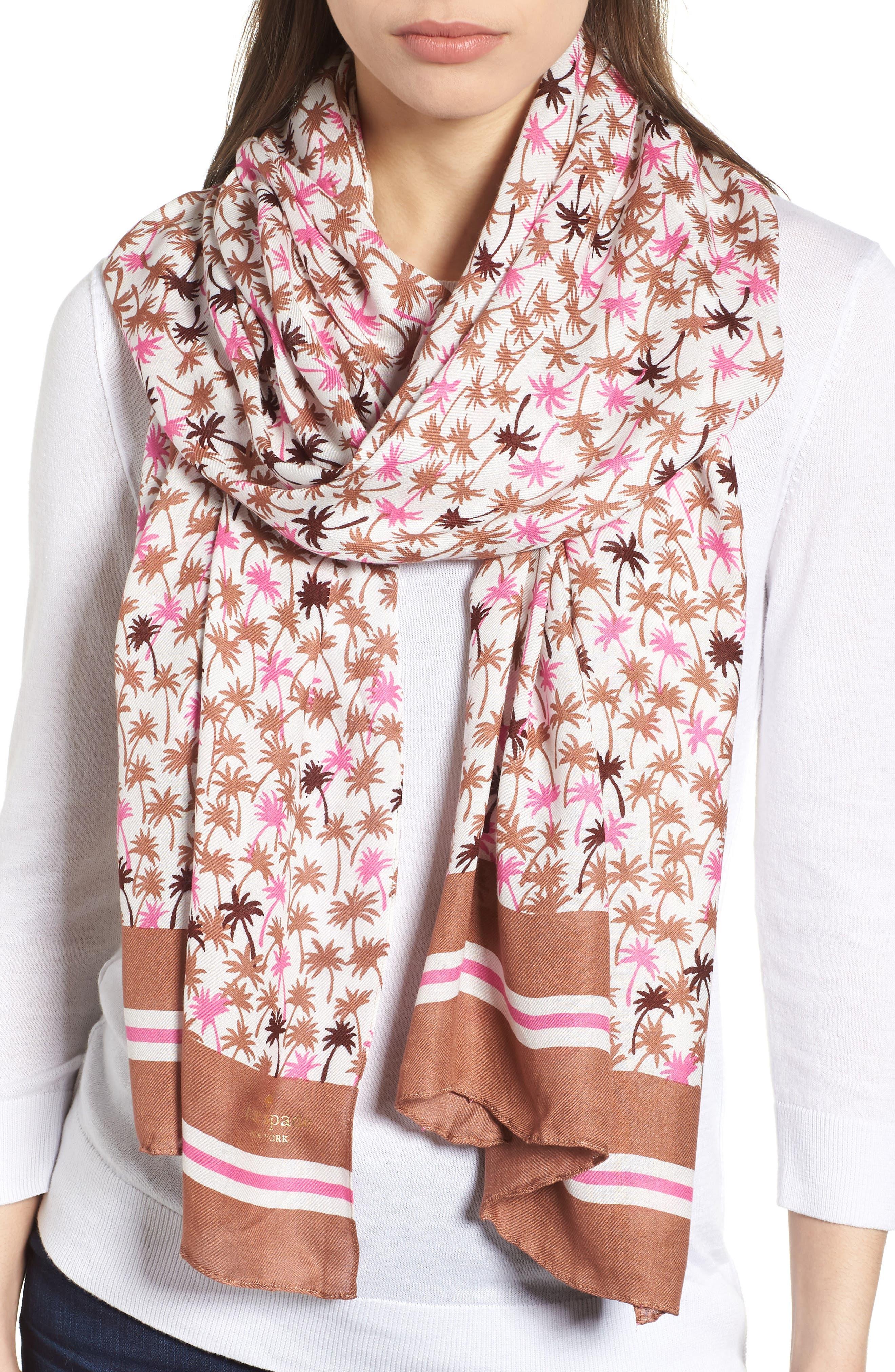 mini palm scarf,                             Main thumbnail 1, color,                             Pink Lemonade