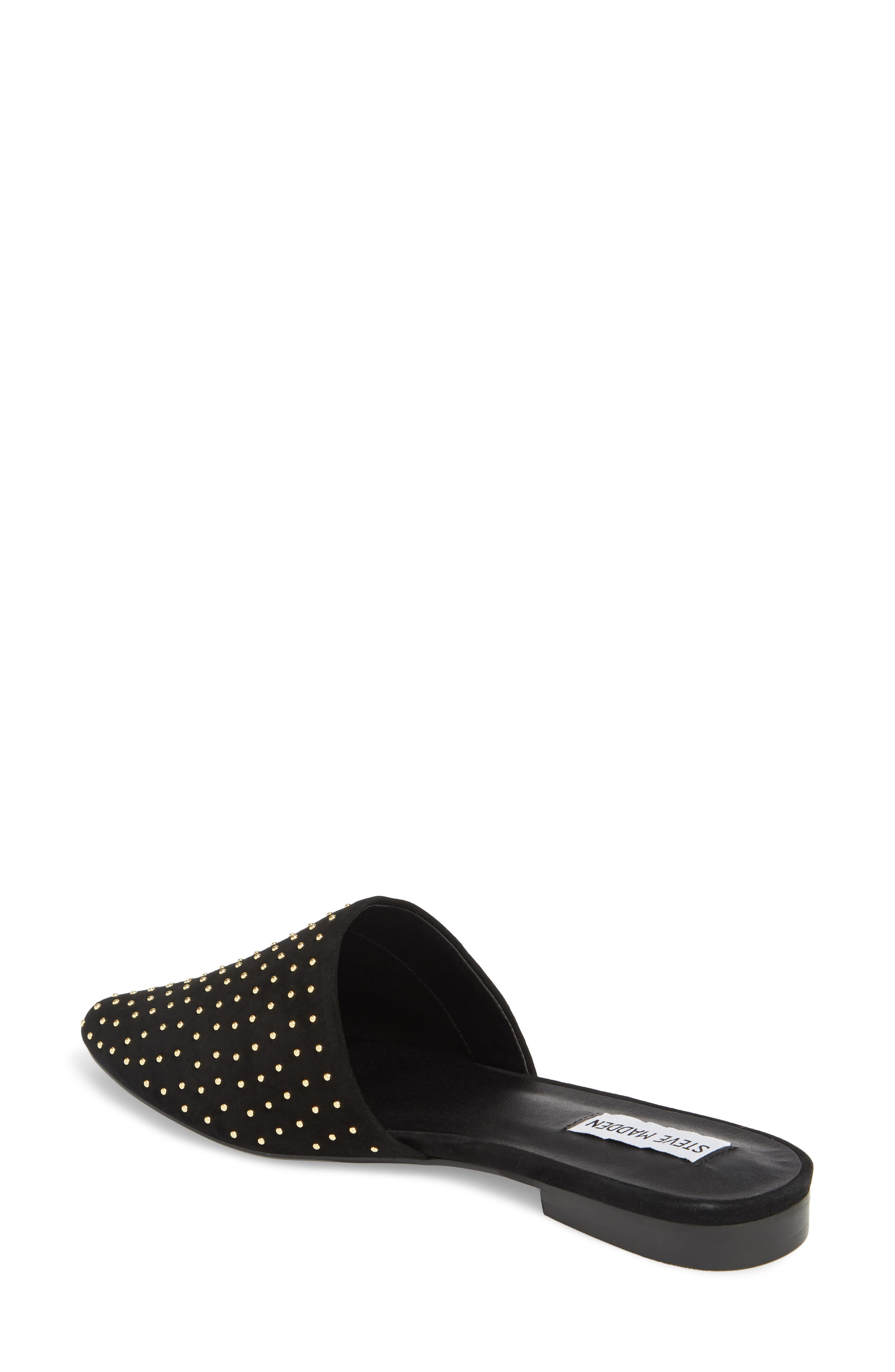 Trace Studded Mule,                             Alternate thumbnail 2, color,                             Black With Stud