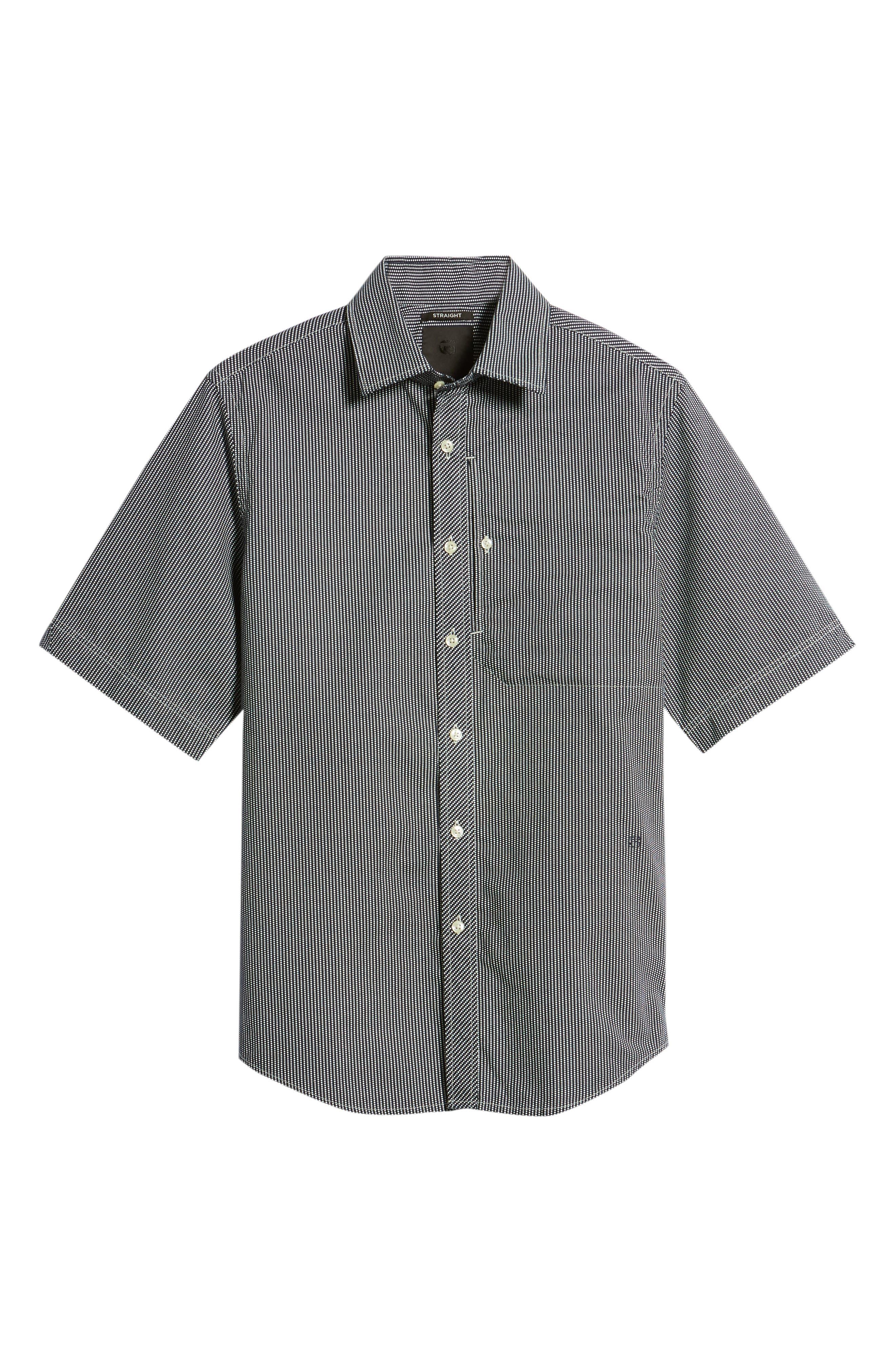 Bristum Straight Ref Shirt,                             Alternate thumbnail 6, color,                             Sartho Blue/ Milk