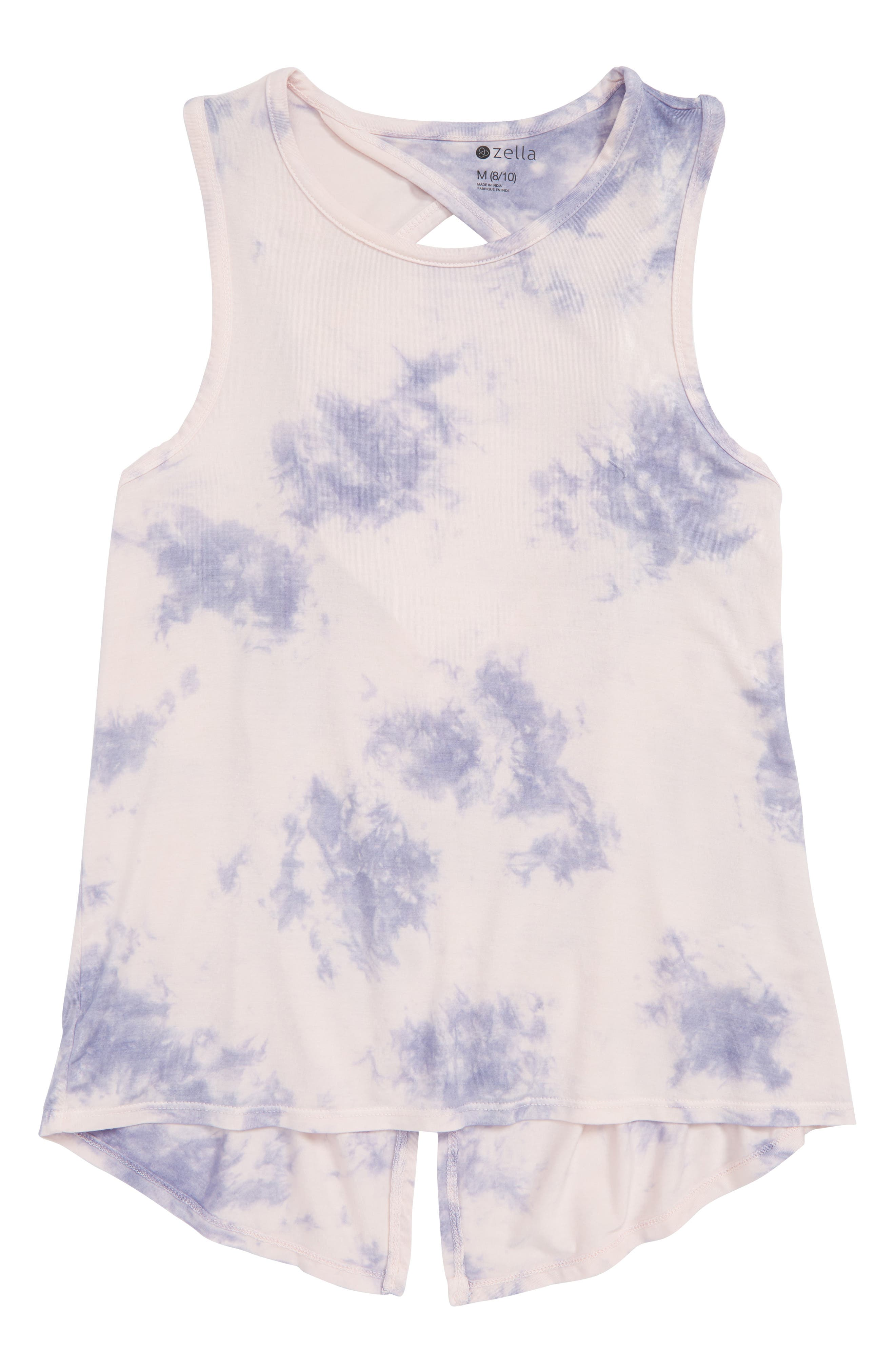 Tie Dye Twist Tank,                             Main thumbnail 1, color,                             Pink Beach Tie Dye