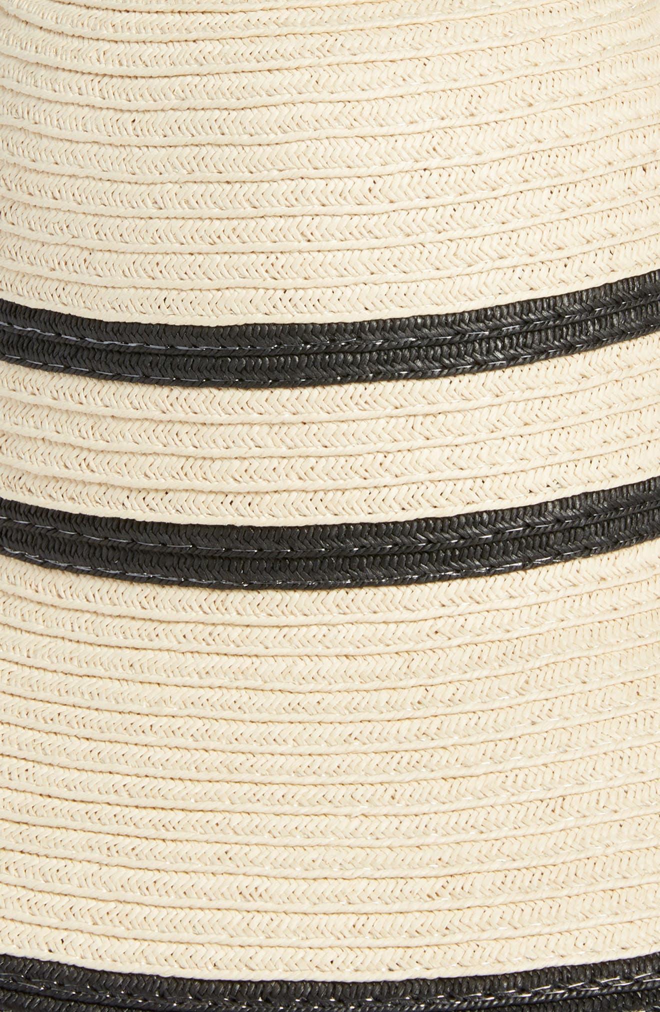 Bondi Straw Cloche Hat,                             Alternate thumbnail 2, color,                             Stone
