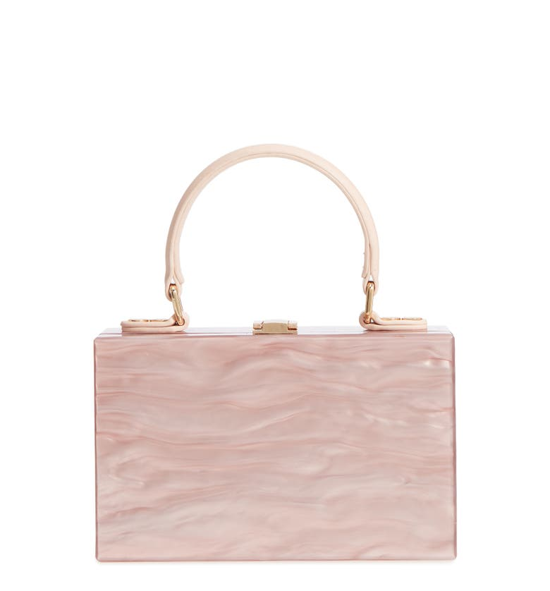 Clara Top Handle Box Clutch,                         Main,                         color, Pink