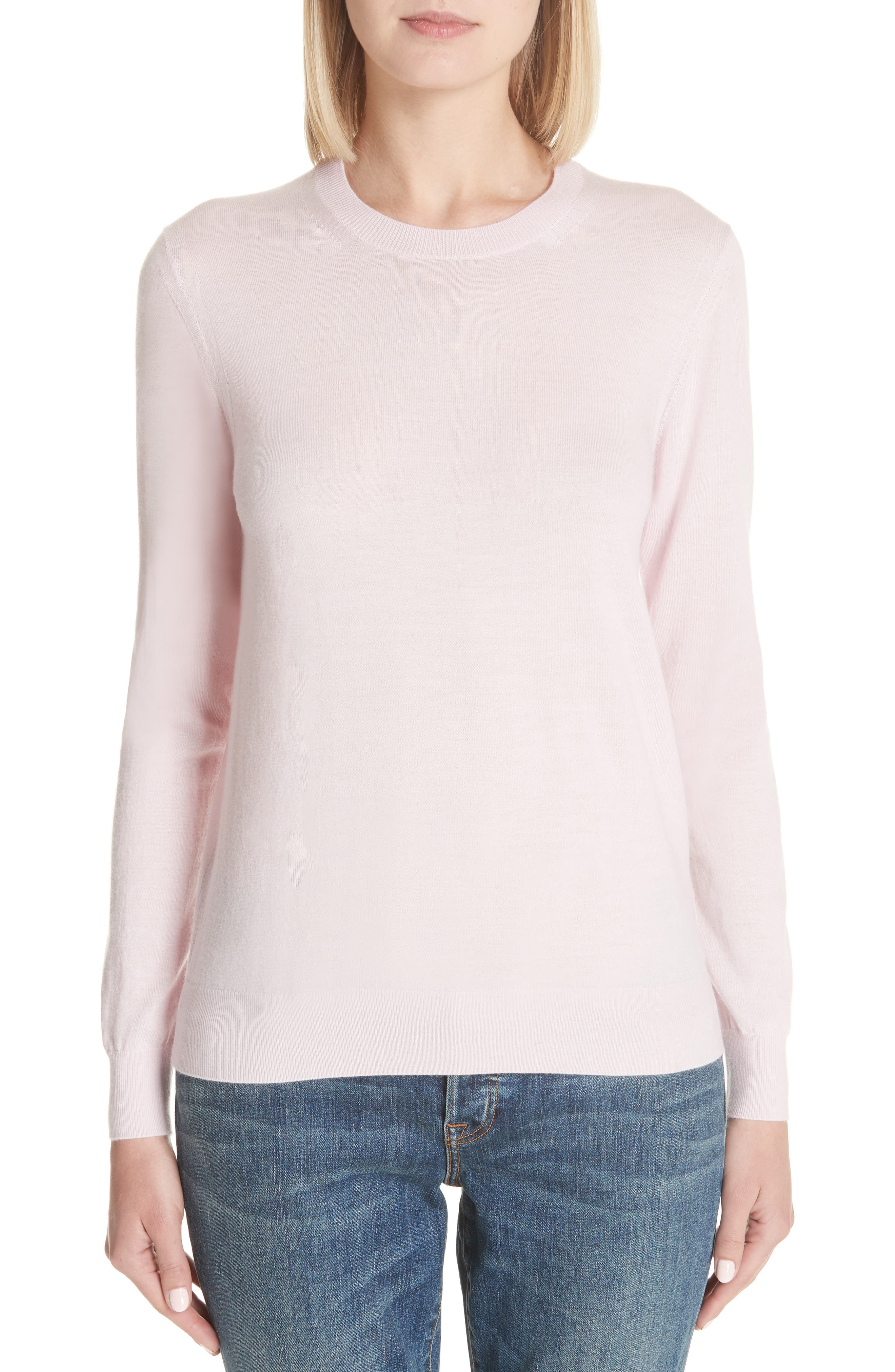 Viar Merino Wool Sweater,                             Main thumbnail 1, color,                             Light Pink