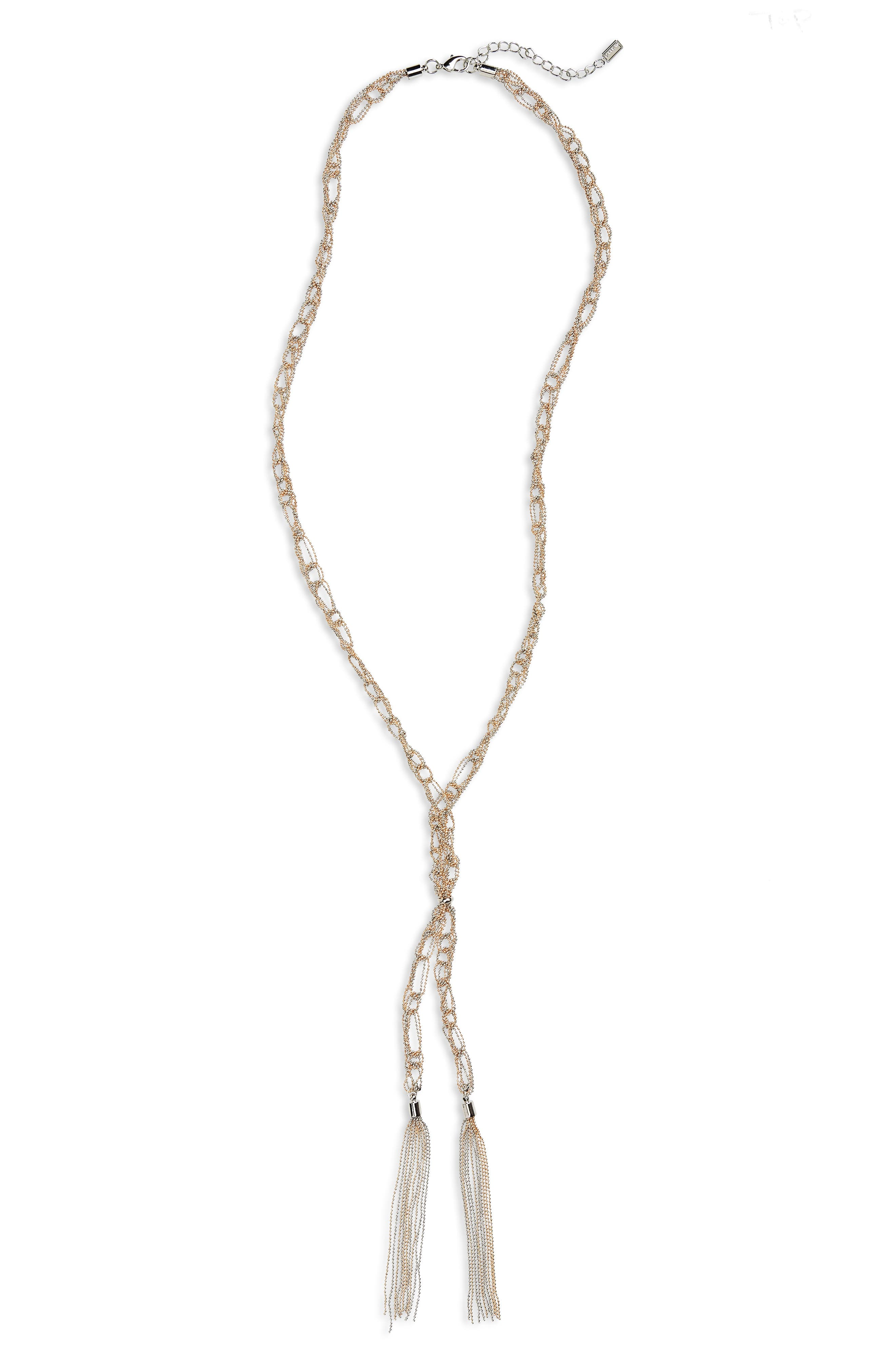 Ettika Tassel Layered Necklace in Metallic Gold TiQxB3