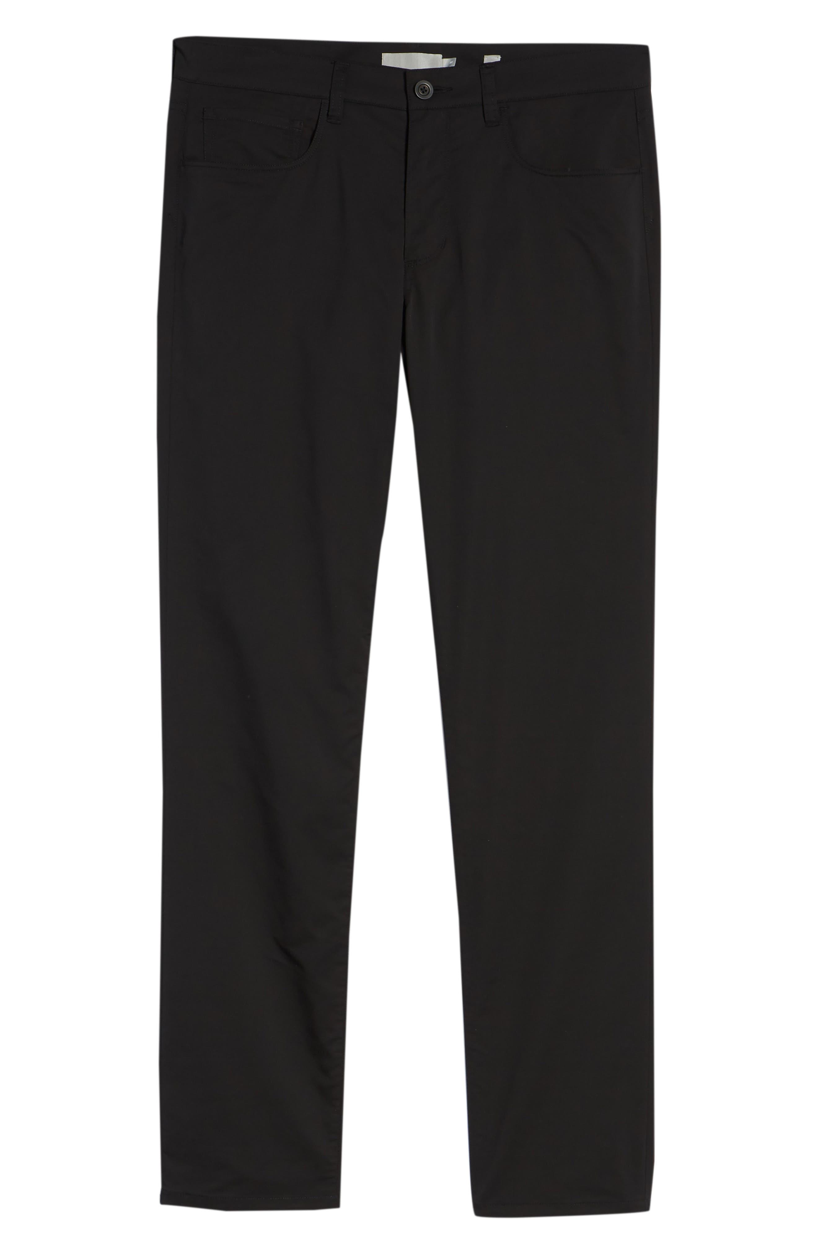 Tech Five-Pocket Pants,                             Alternate thumbnail 6, color,                             Black