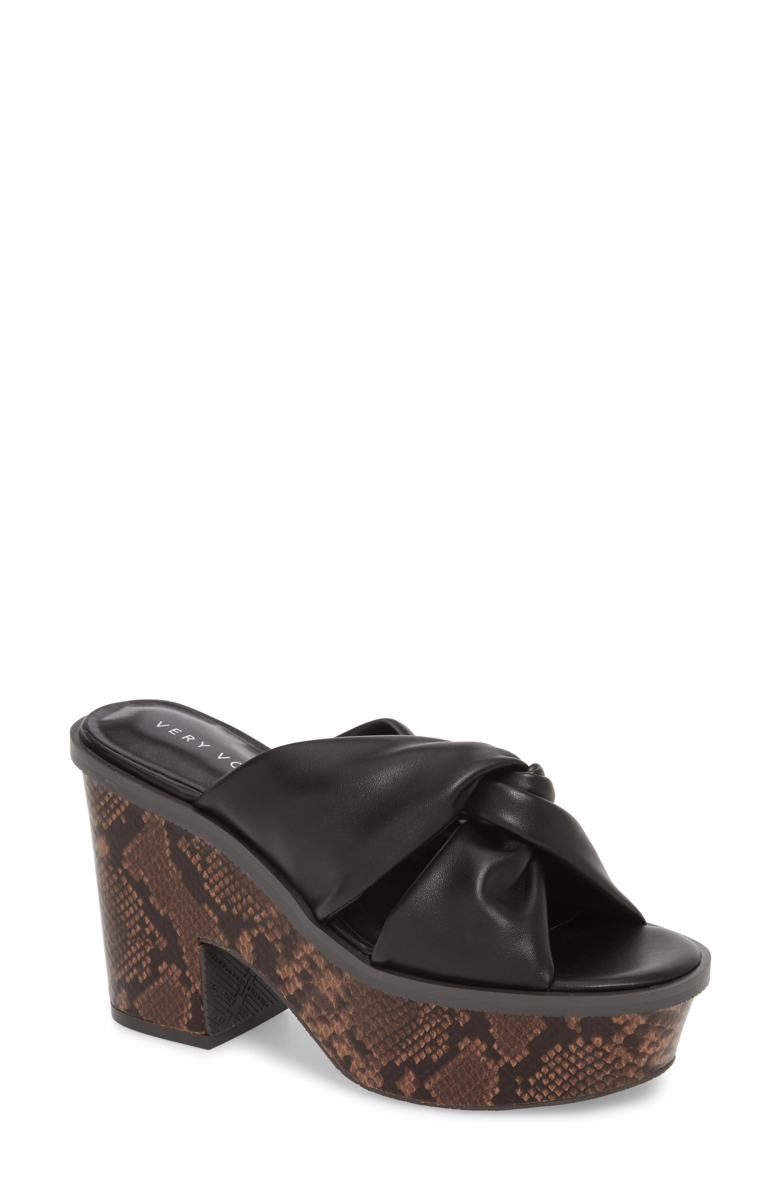 Ainsley Platform Sandal,                             Main thumbnail 1, color,                             Black