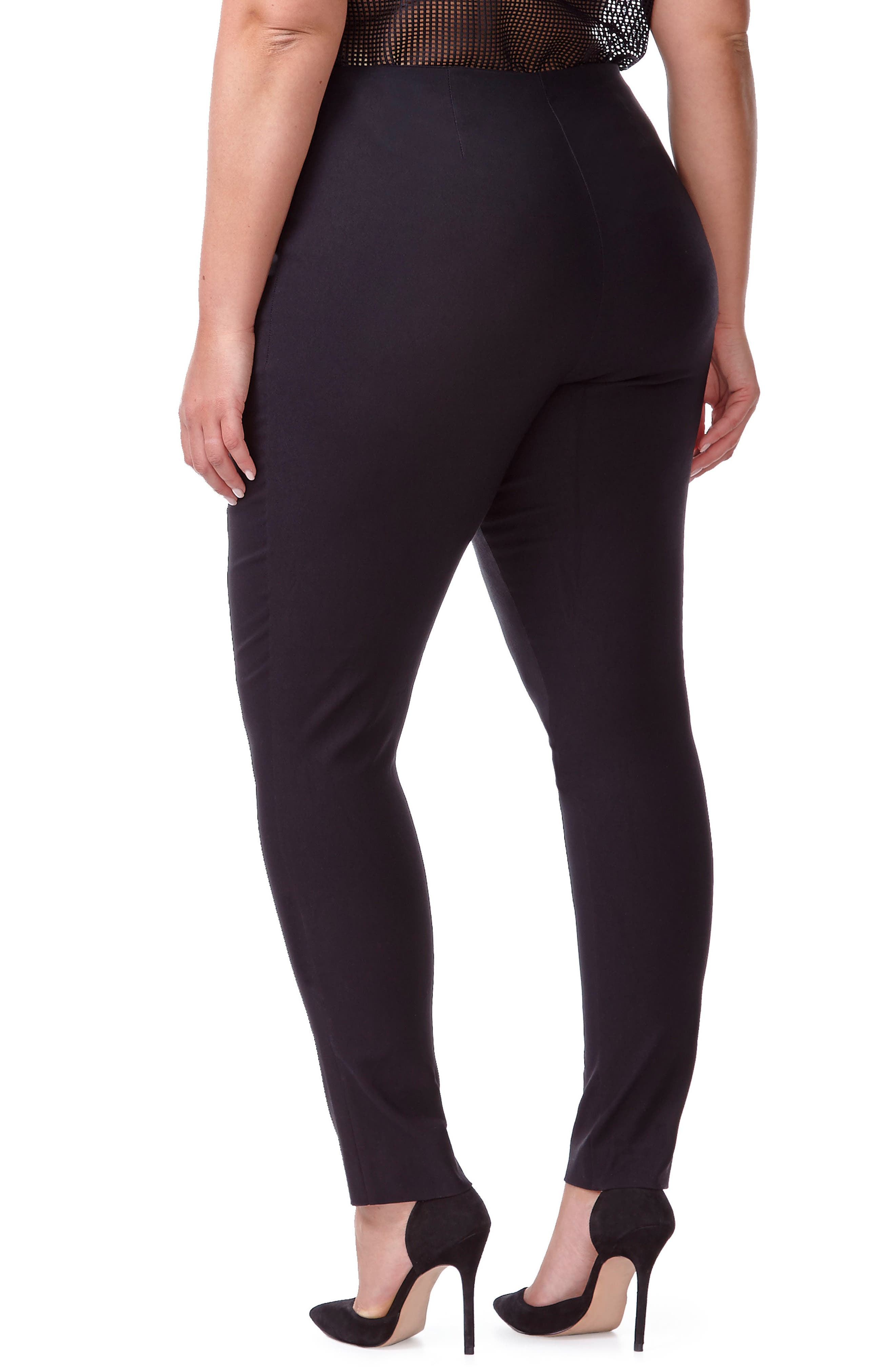 Alexa Ankle Pants,                             Alternate thumbnail 2, color,                             Black