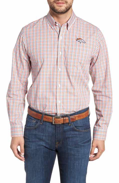 c894578c6 Cutter   Buck Denver Broncos - Gilman Regular Fit Plaid Sport Shirt