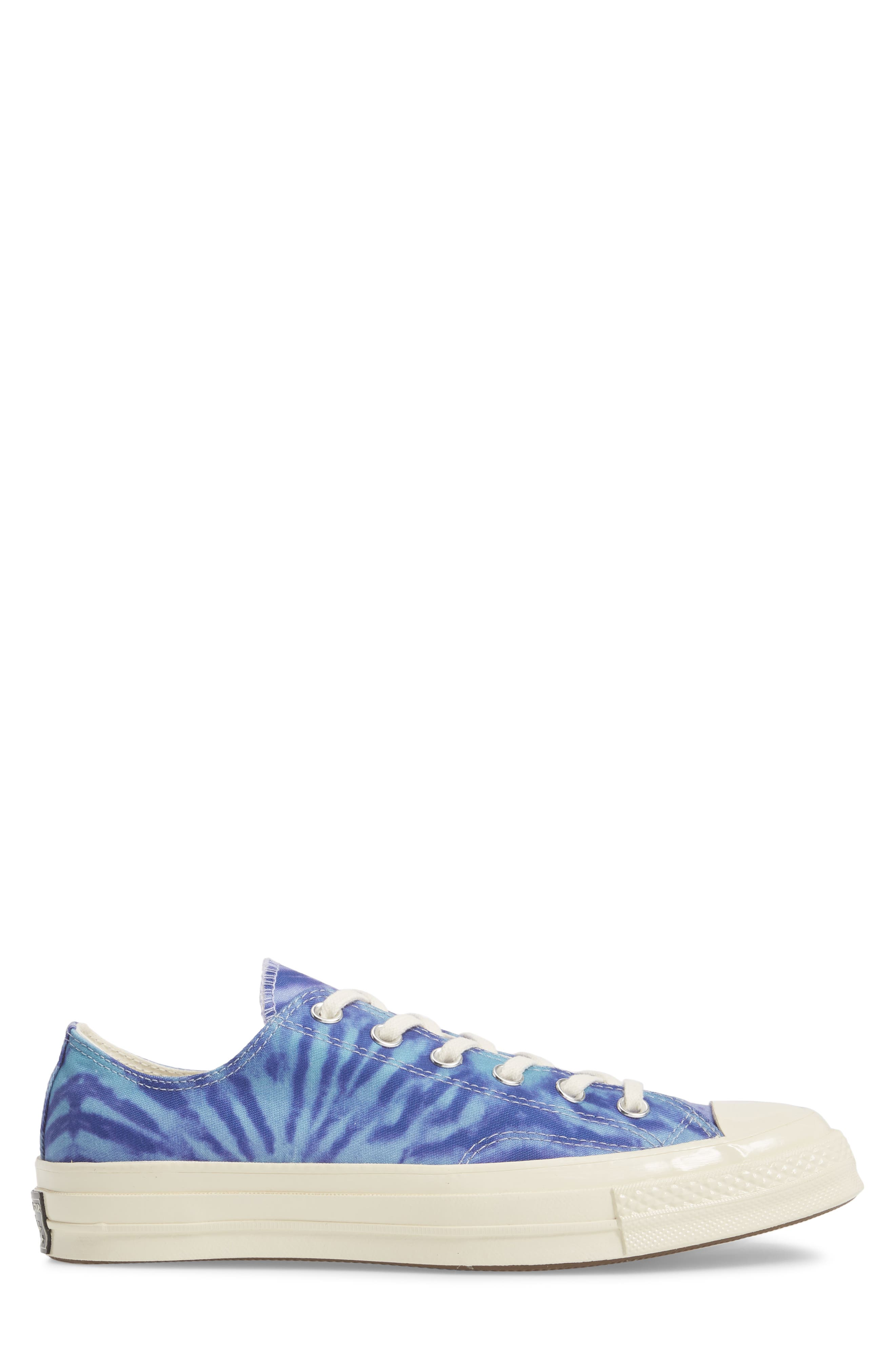 Chuck Taylor<sup>®</sup> All Star<sup>®</sup> 70 Tie Dye Low Top Sneaker,                             Alternate thumbnail 3, color,                             Shoreline Blue