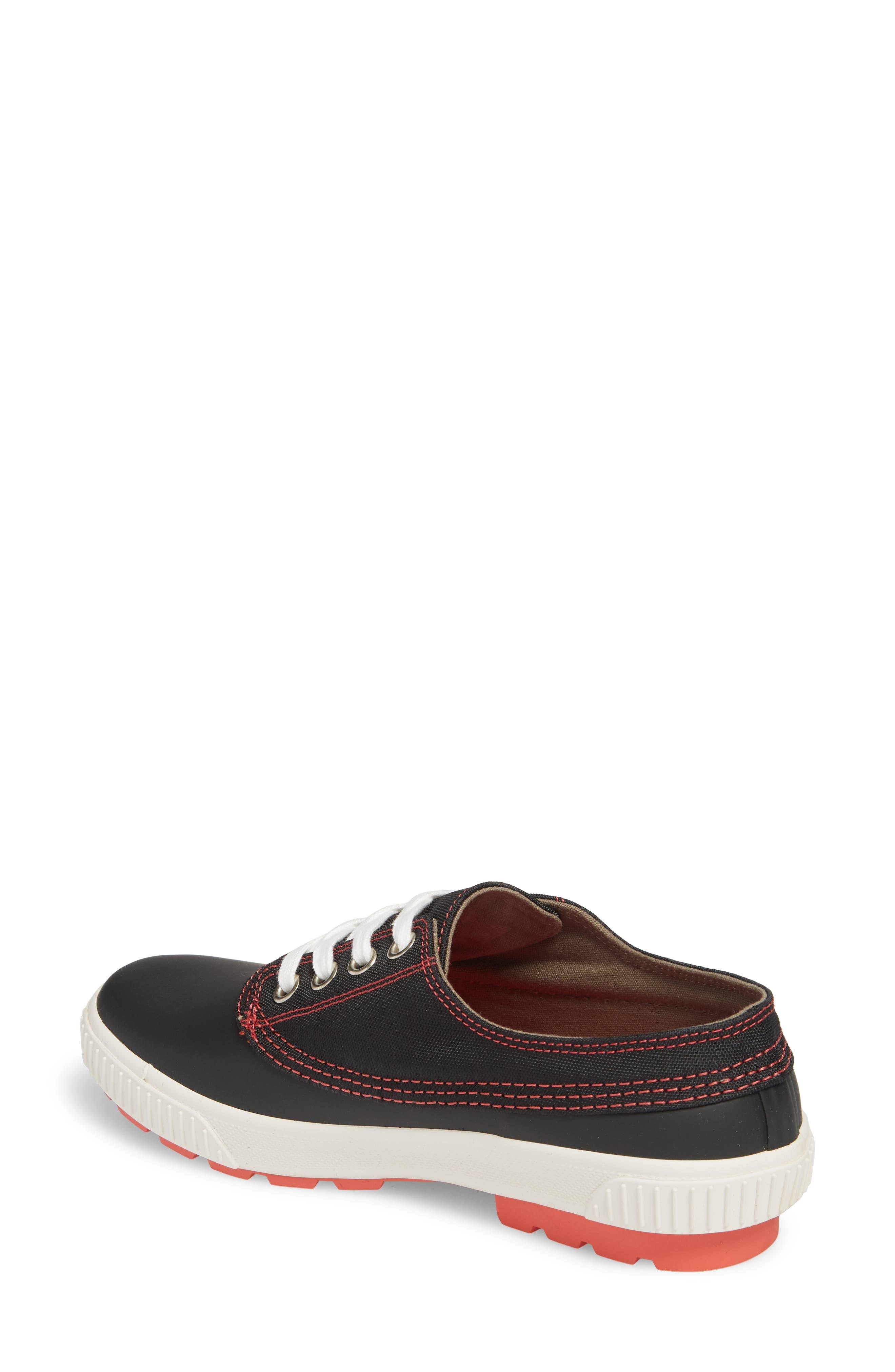 Dash Duck Sneaker,                             Alternate thumbnail 2, color,                             Black/ Coral