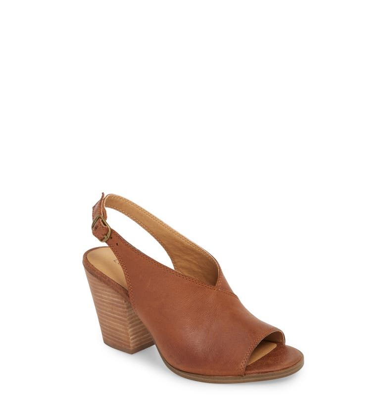 30a57526774 Lucky Brand Ovrandie Sandal In Toffee Leather