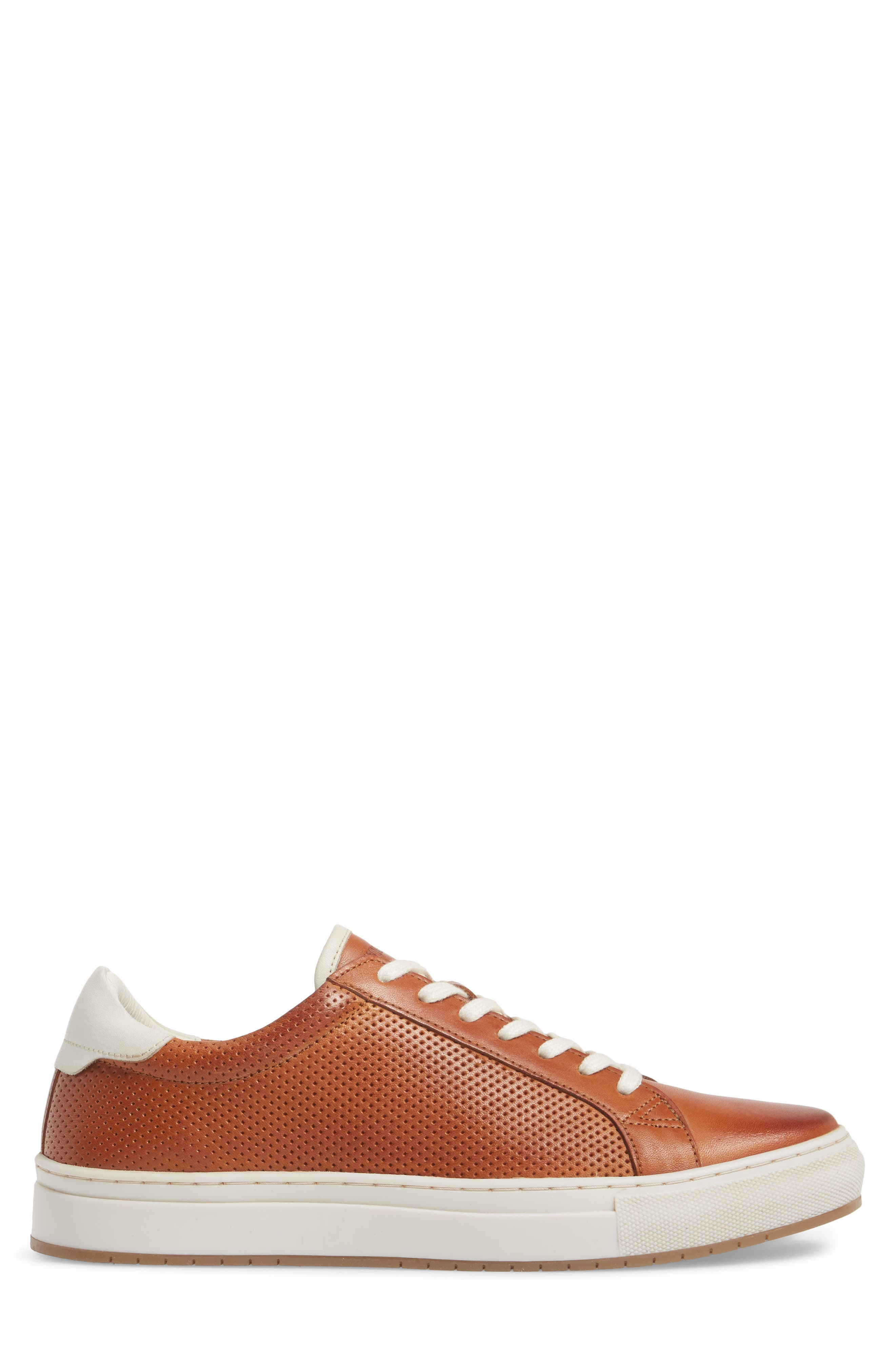 Don Embossed Lace-Up Sneaker,                             Alternate thumbnail 3, color,                             Cognac Leather