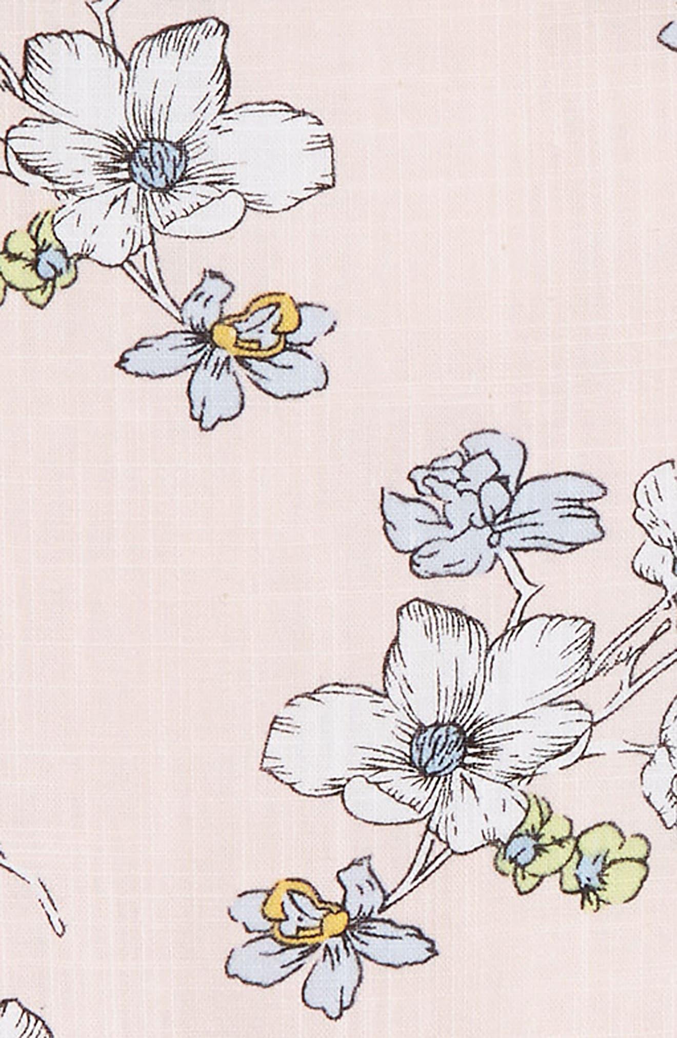 Floral Dress & Capri Leggings Set,                             Alternate thumbnail 2, color,                             Pink
