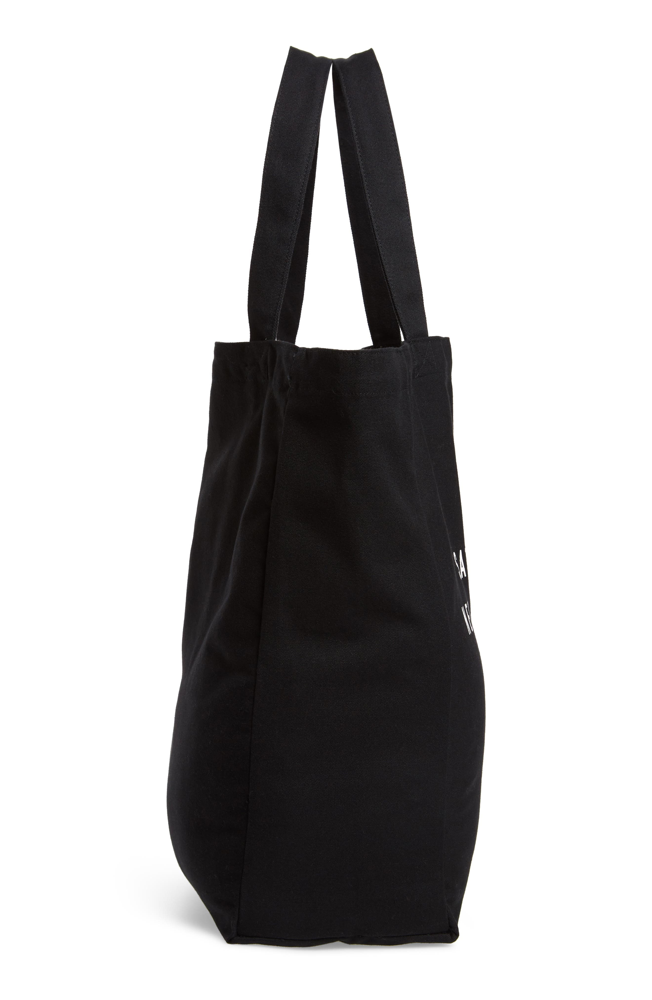 Established USA Tote Bag,                             Alternate thumbnail 5, color,                             Black